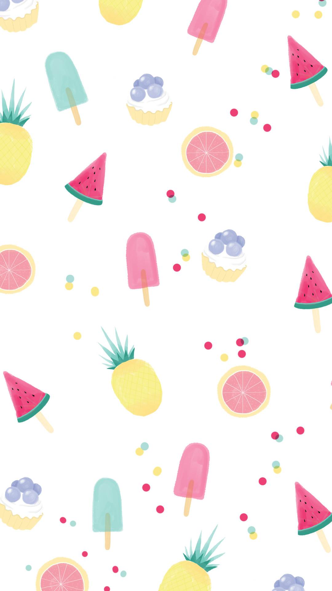 Fruit and ice lolly wallpaper