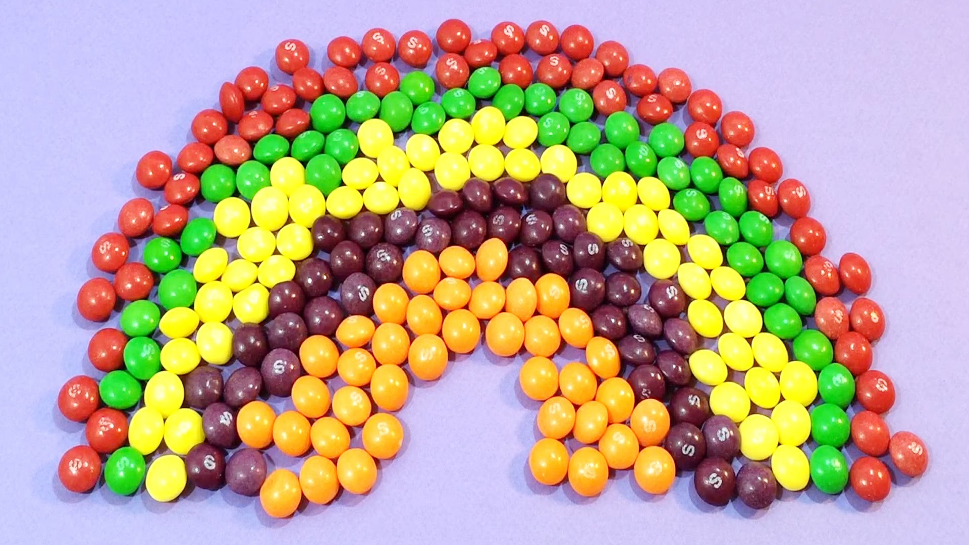 New Learn Colours with Skittles Candy Rainbow and Surprise Balls! Lesson 4