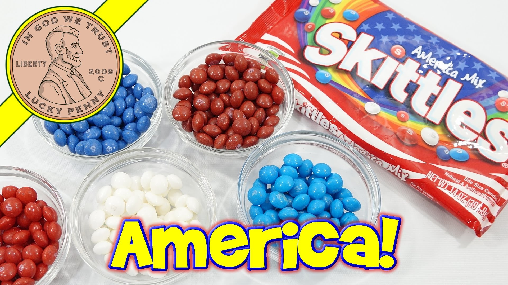 America Mix Skittles 4th Of July Red White & Blue Candy