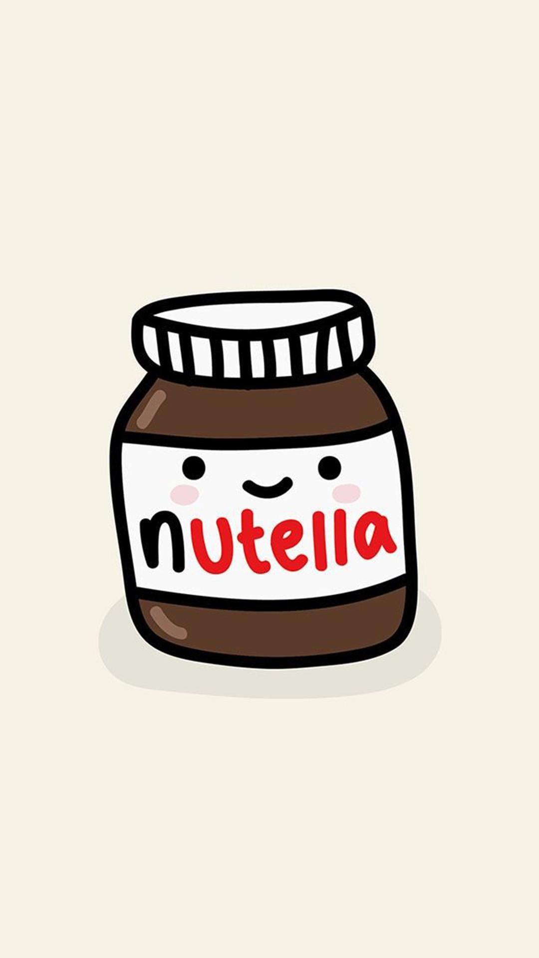 Cute Nutella Jar Illustration Android Wallpaper …