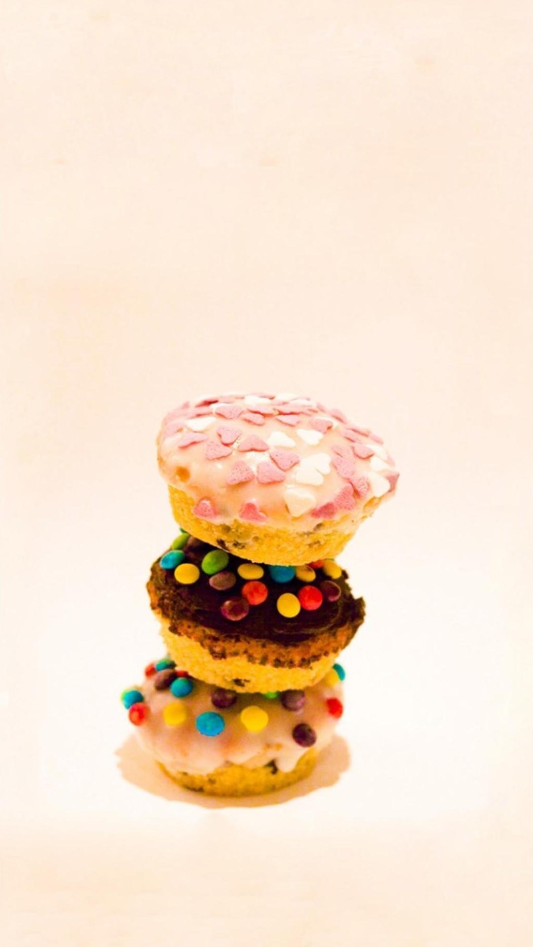 Delicious Cute Colorful Cupcake #iPhone #6 #plus #wallpaper