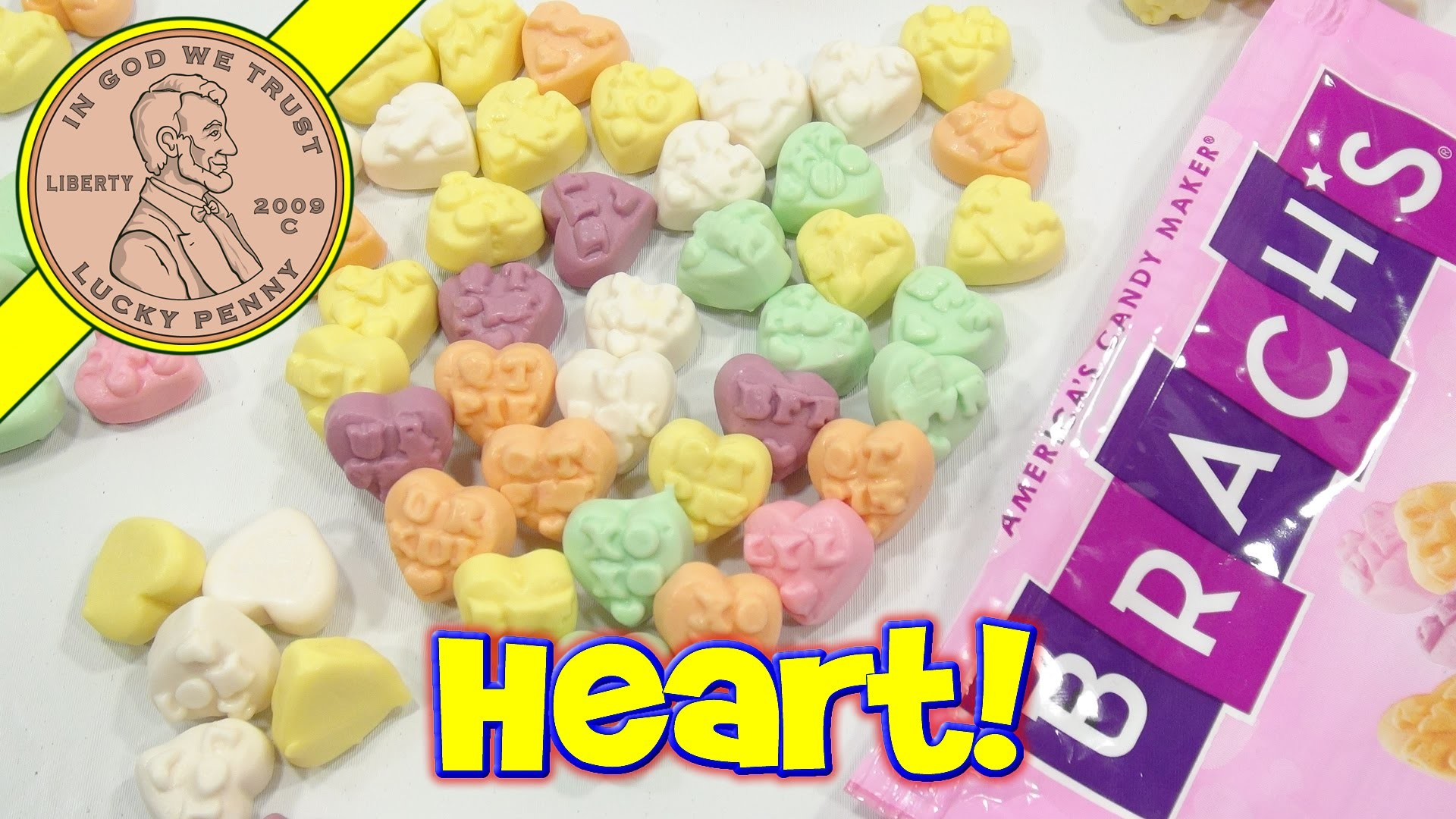 Brach's Conversation Hearts Gummi Valentine's Candy – I Heart You! – YouTube