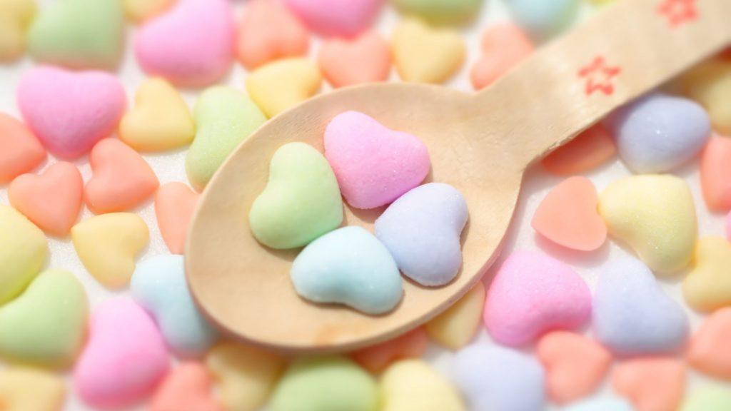 Colorful Heart Candies Desktop Wallpaper HD
