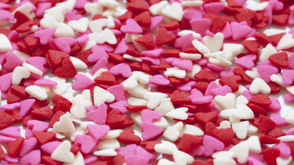 Wallpaper heart, set, red, white, pink