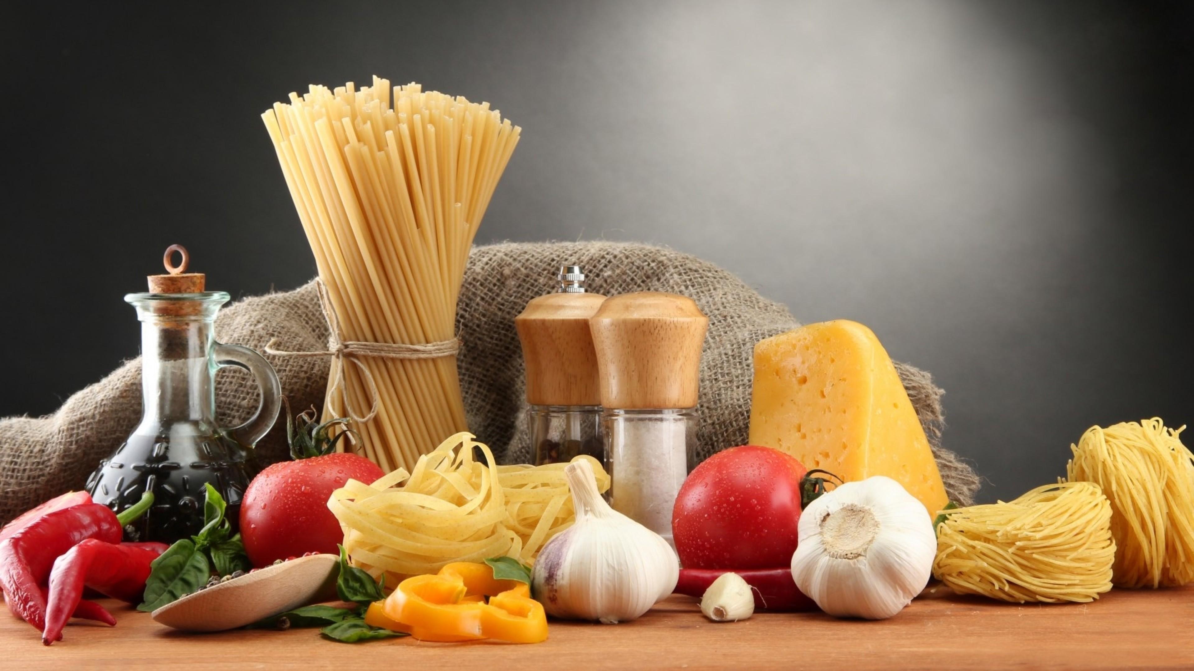 Wallpaper cheese, pepper, chili, garlic, pasta, noodles, salt,