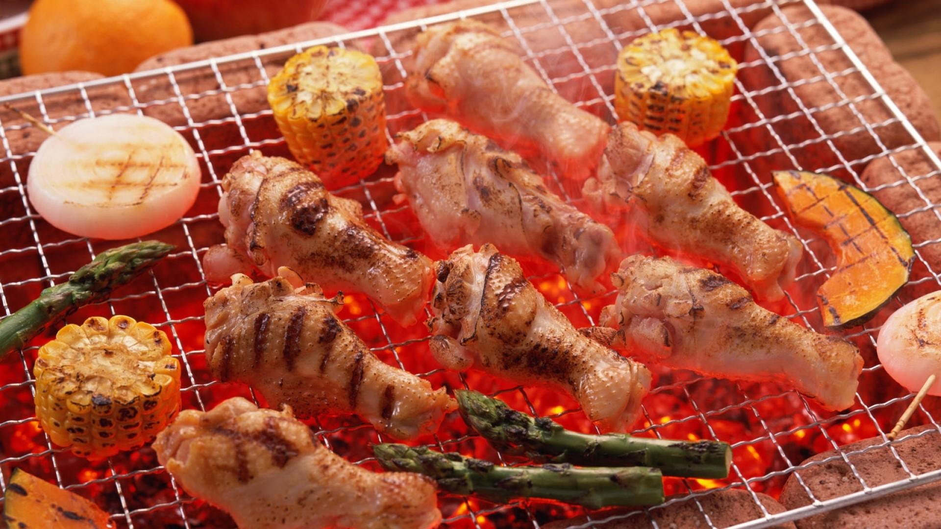 Wallpaper meat, grill, food