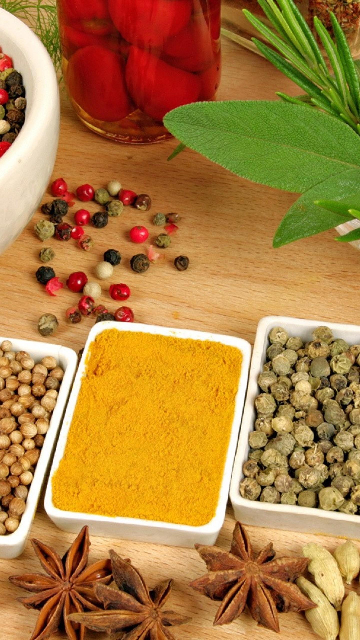 Wallpaper spices, sprinkles, food