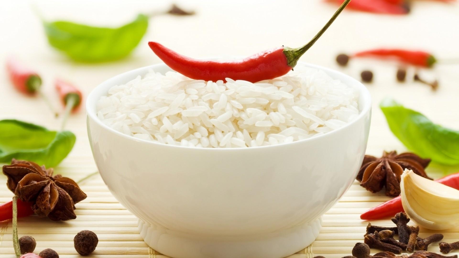 Wallpaper rice, pepper, chili, food