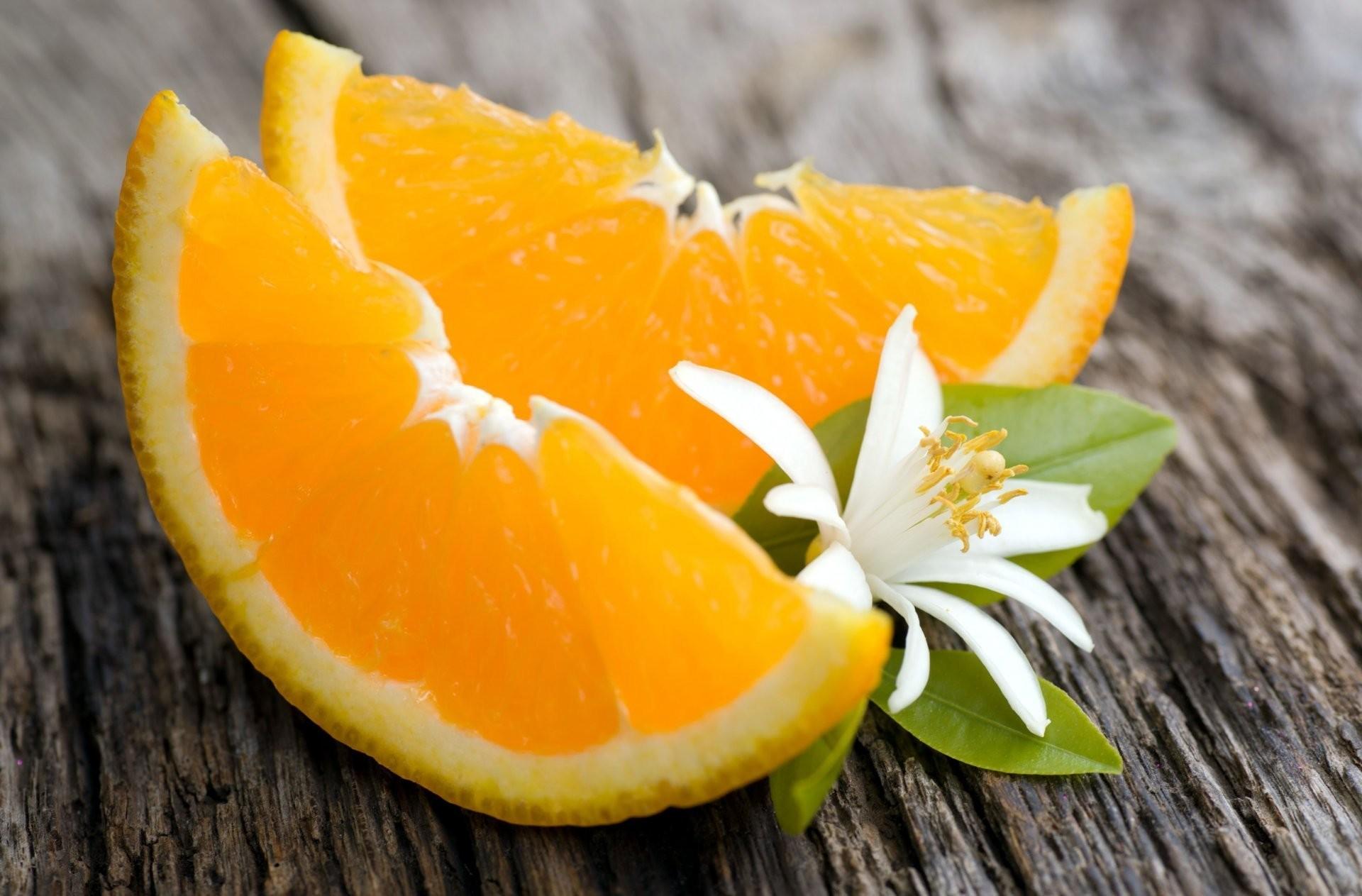 food orange segments orange flower flower leaf background wallpaper  widescreen full screen widescreen hd wallpapers background