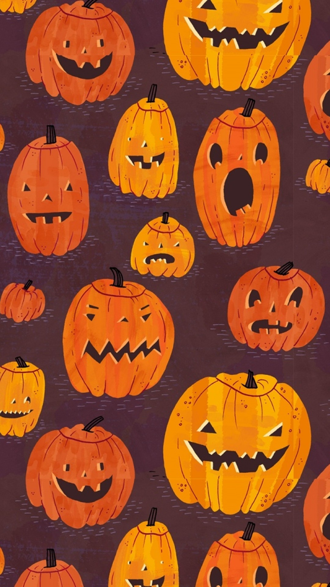Cute Pumpkin – Tap to see more cute halloween wallpaper! | @mobile9