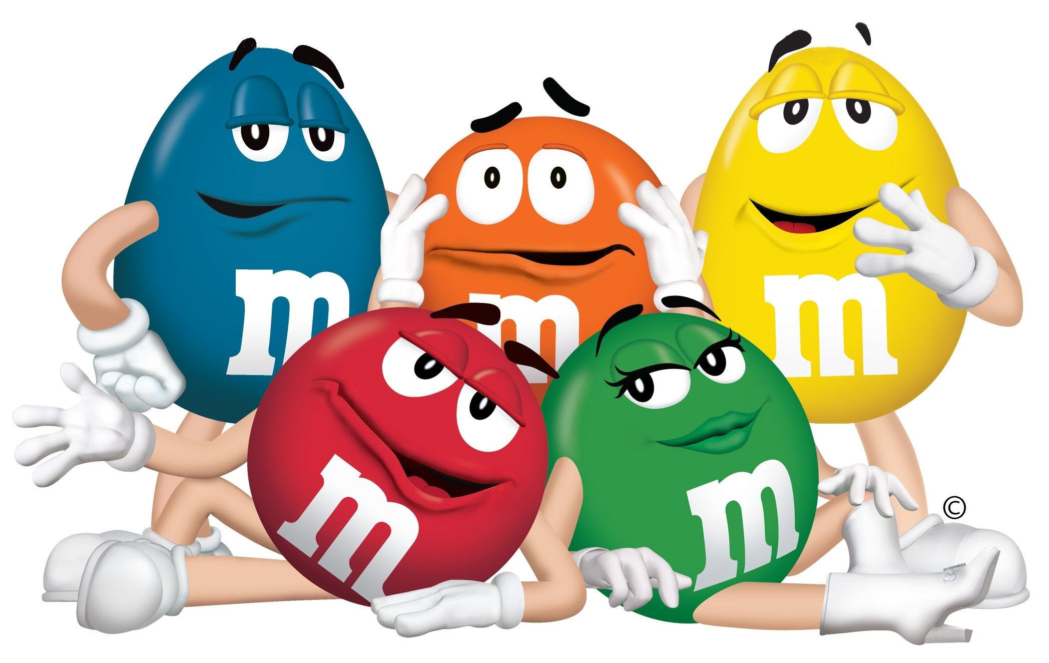 Wallpaper m and m, mm, characters, chocolate, candy, blue, orange