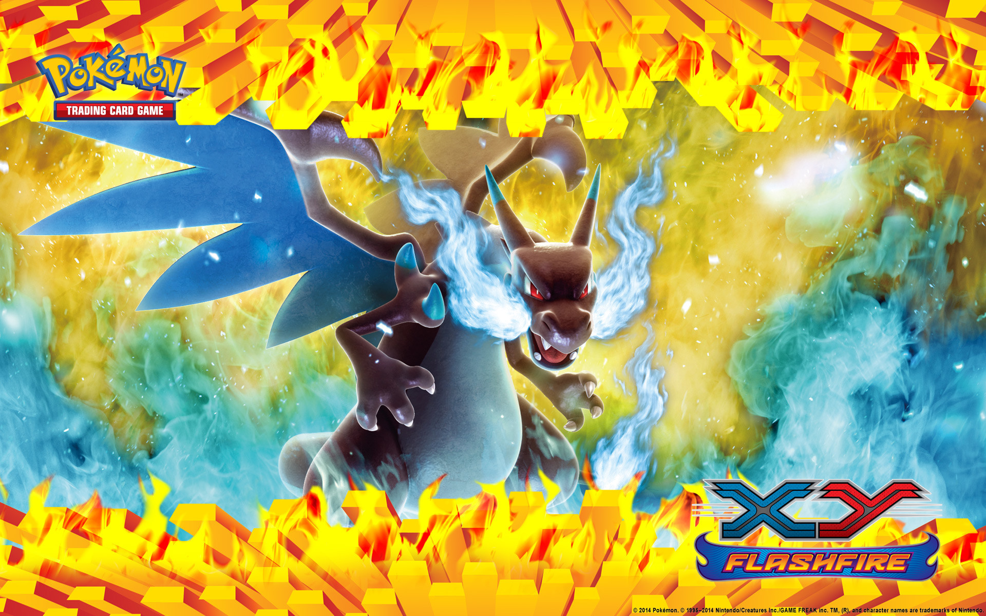 Pokémon TCG: XY—Flashfire M Charizard Wallpaper