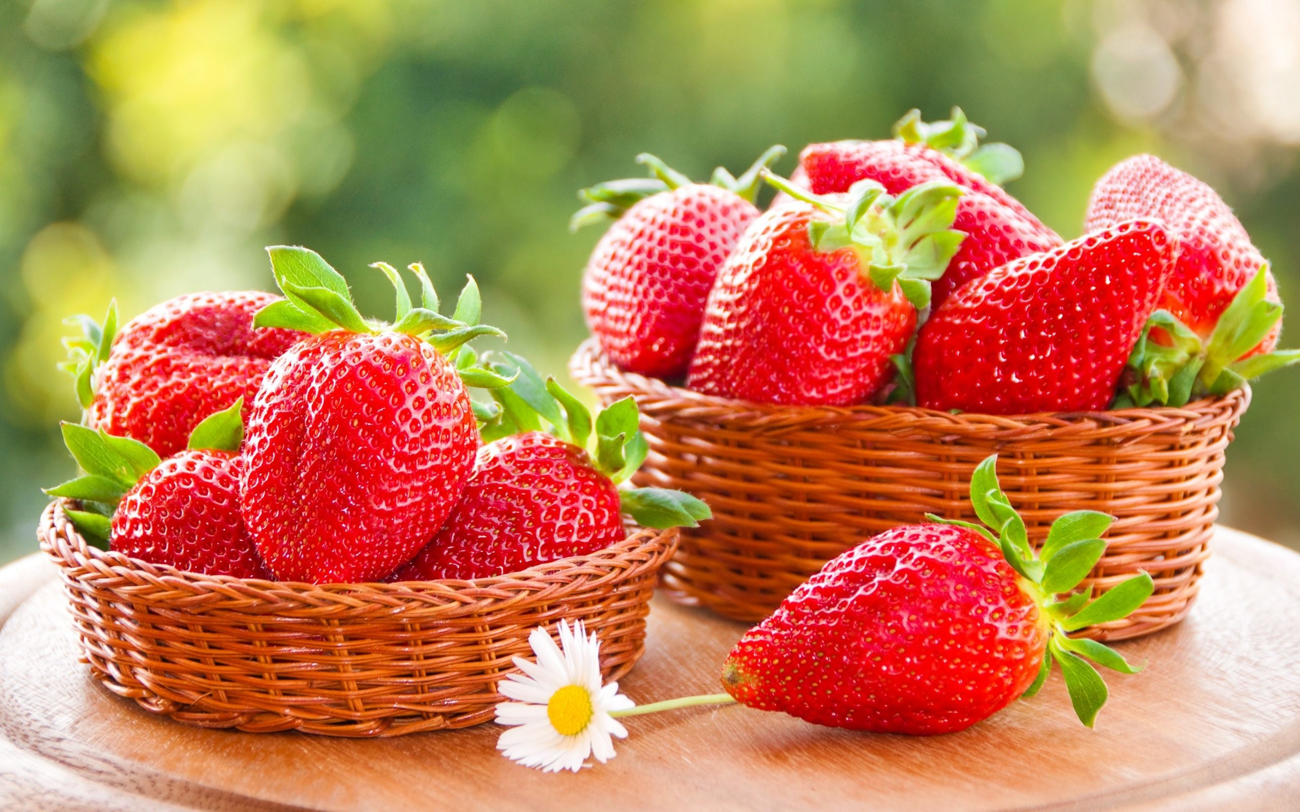 Strawberry Fruit Background Wallpaper For Desktop & Mobile