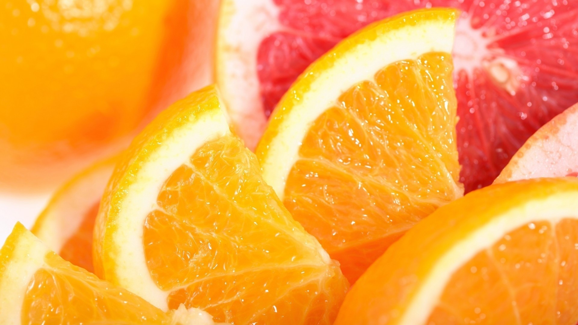 Wallpaper orange, fruit, cutting, grapefruit