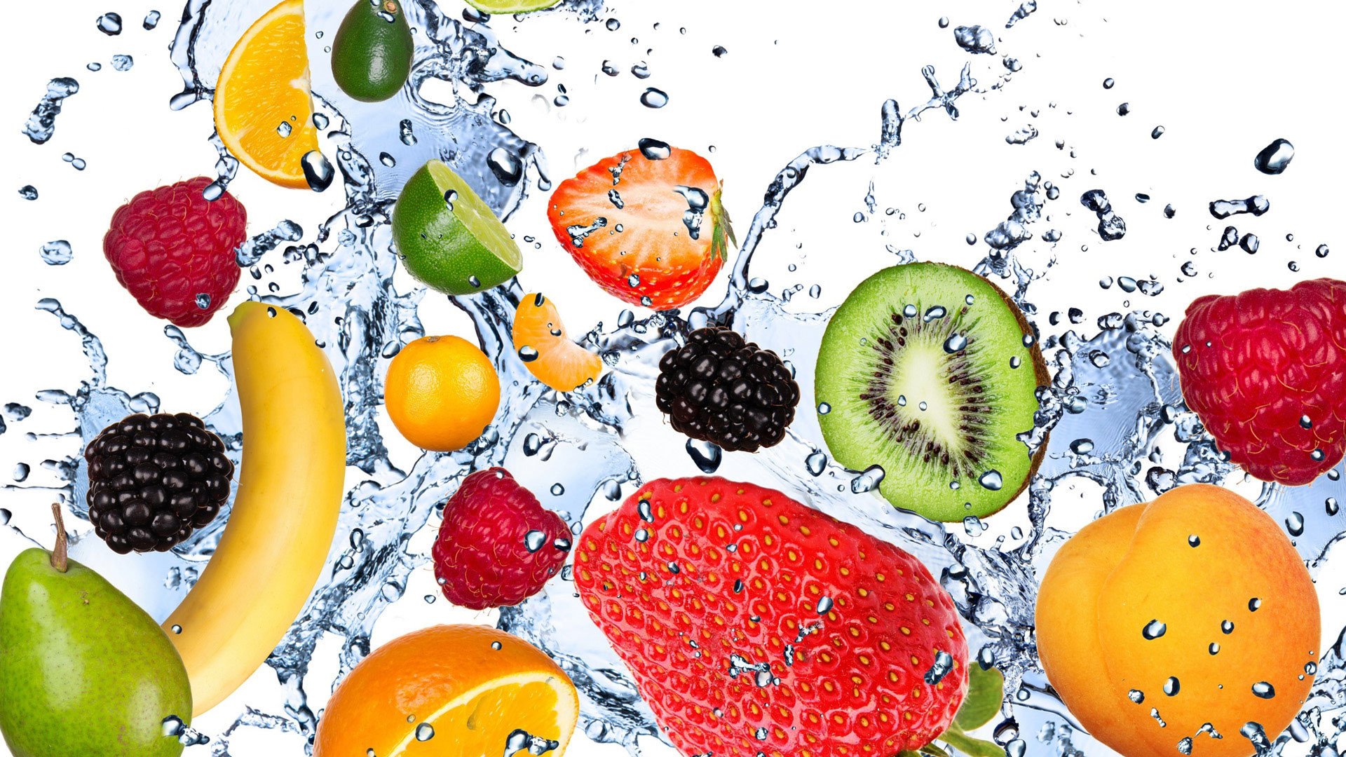 hd pics photos fruits fresh water slpash desktop background wallpaper