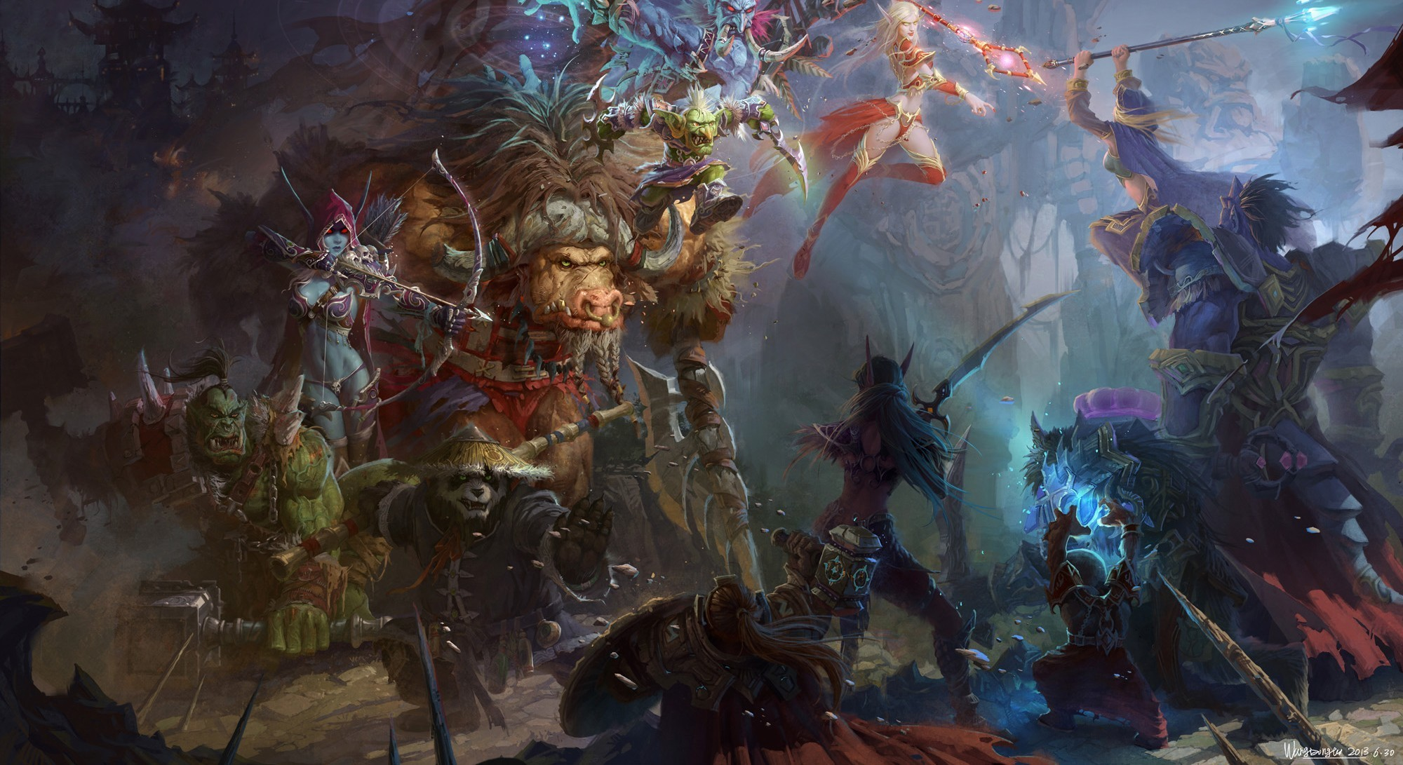 World of Warcraft Lady Sylvanas Windrunner | world of warcraft wow forsaken  queen sylvanas windrunner model