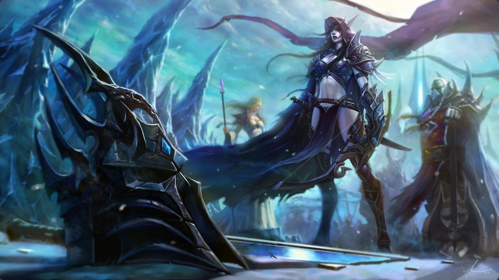 wow world of warcraft wotlk wrath of the lich king sylvanas windrunner  sylvanas windrunner lady jaina