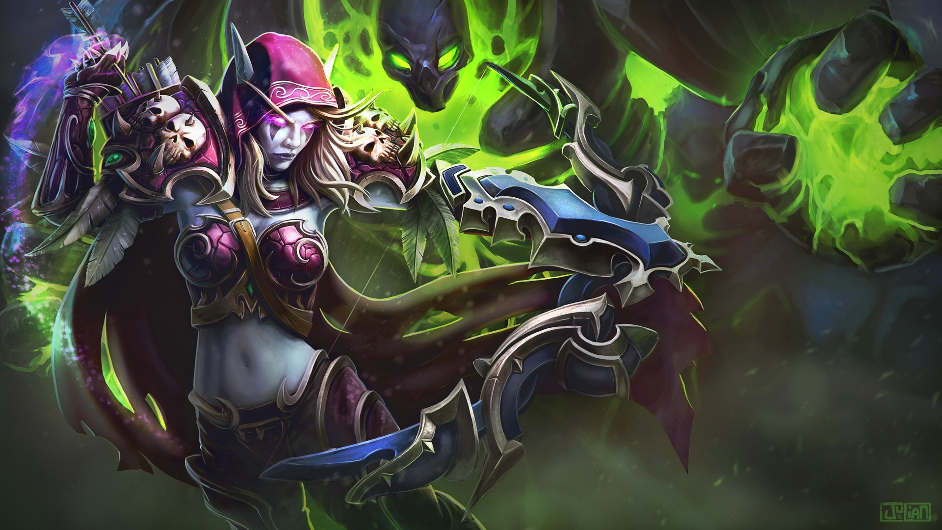 Sylvanas Windrunner, World of Warcraft, Video games, Bow, Arrows, Fantasy girl  Wallpapers HD / Desktop and Mobile Backgrounds