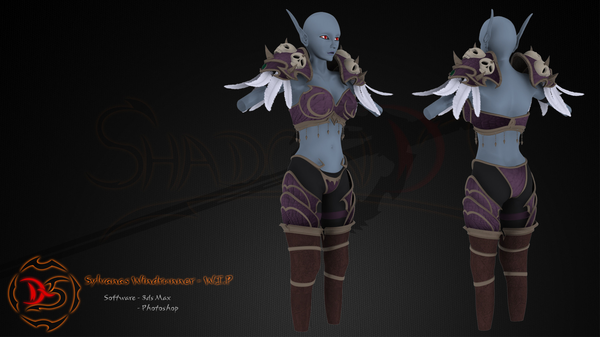 Sylvanas Windrunner 3 – Before ironing (WIP) by MagicPearls on .