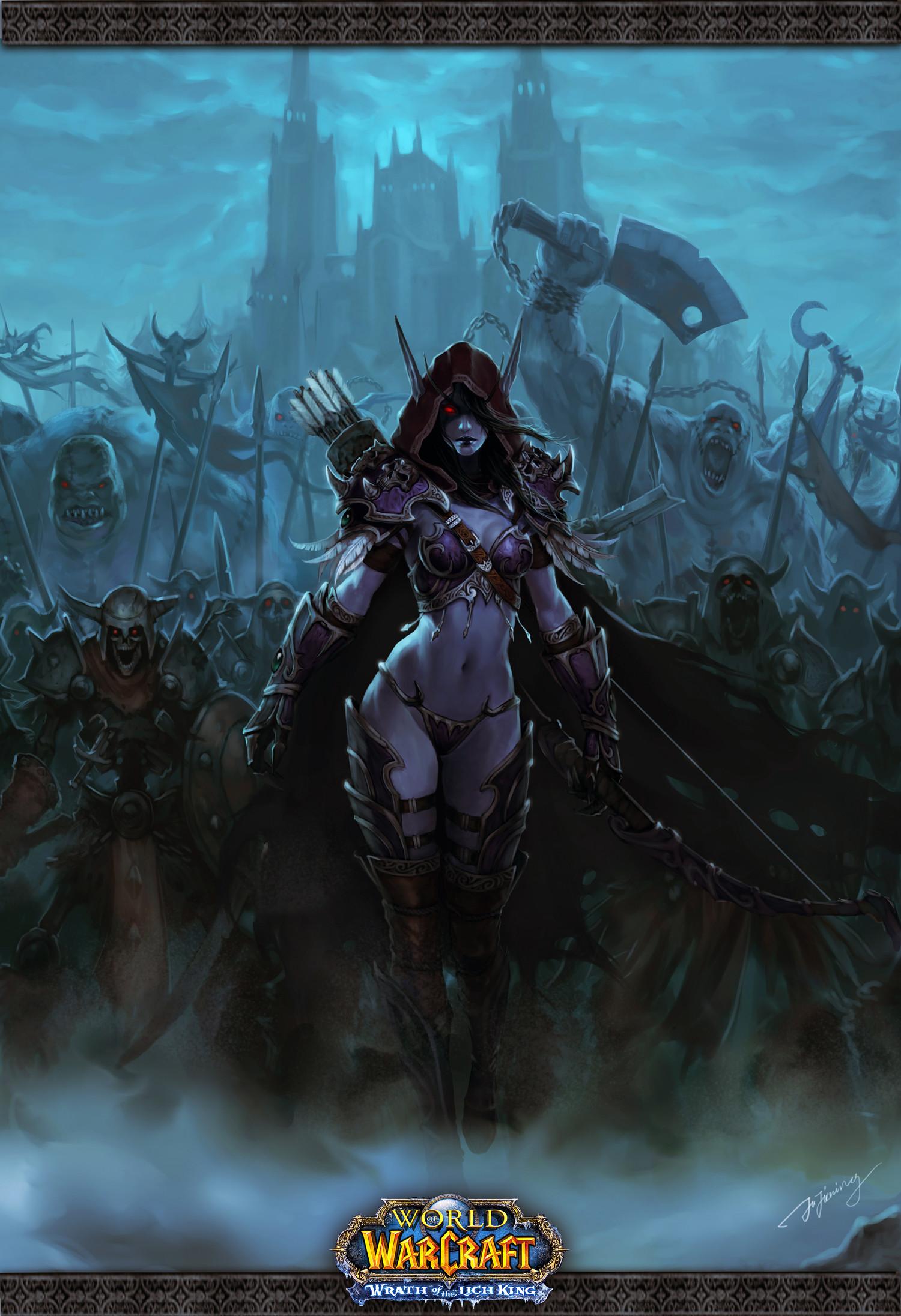 Dark Lady Sylvanas Windrunner the Banshee Queen and leader of the Forsaken