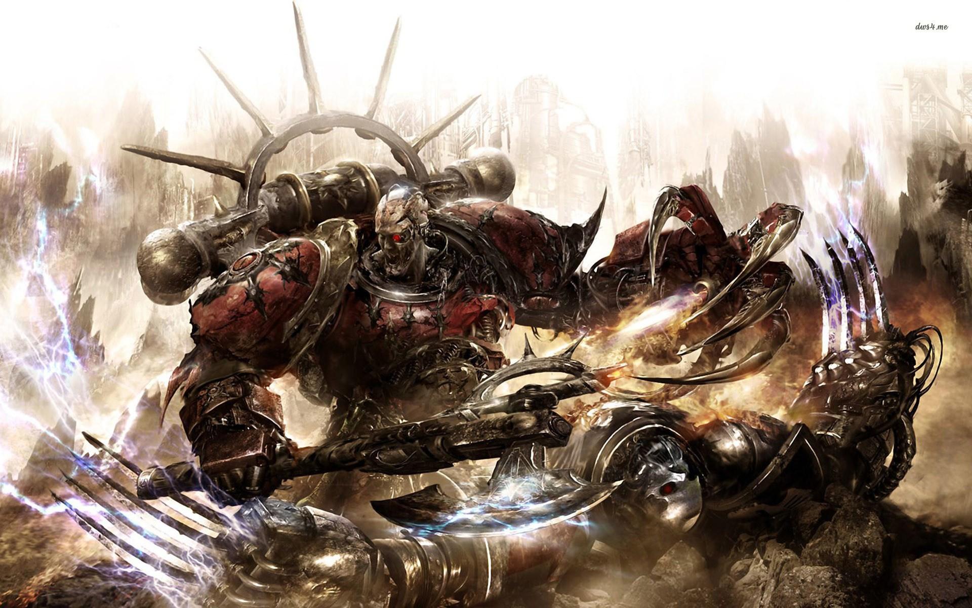 Warhammer 40k Chaos Wallpaper Wallpapersafari