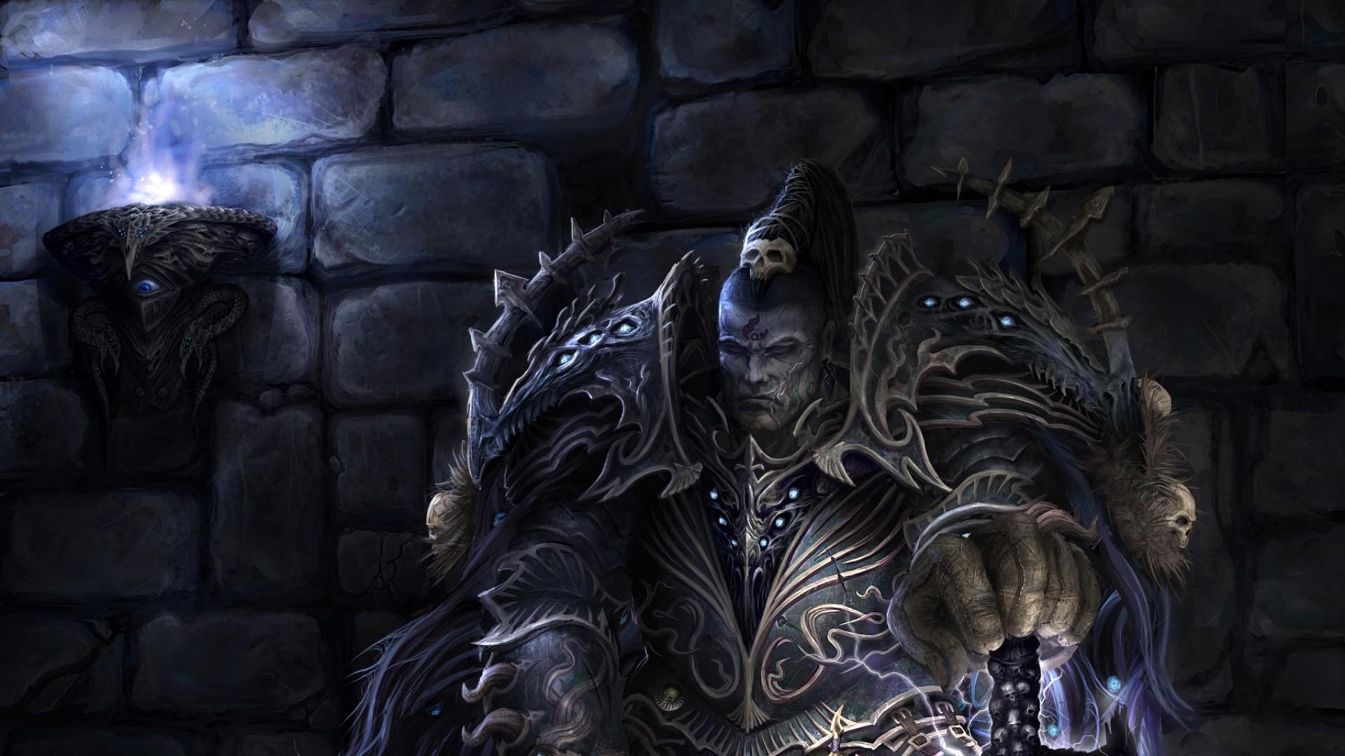 Preview wallpaper warhammer 40k, elect, armor, sword, tzeentch, chaos,  warrior