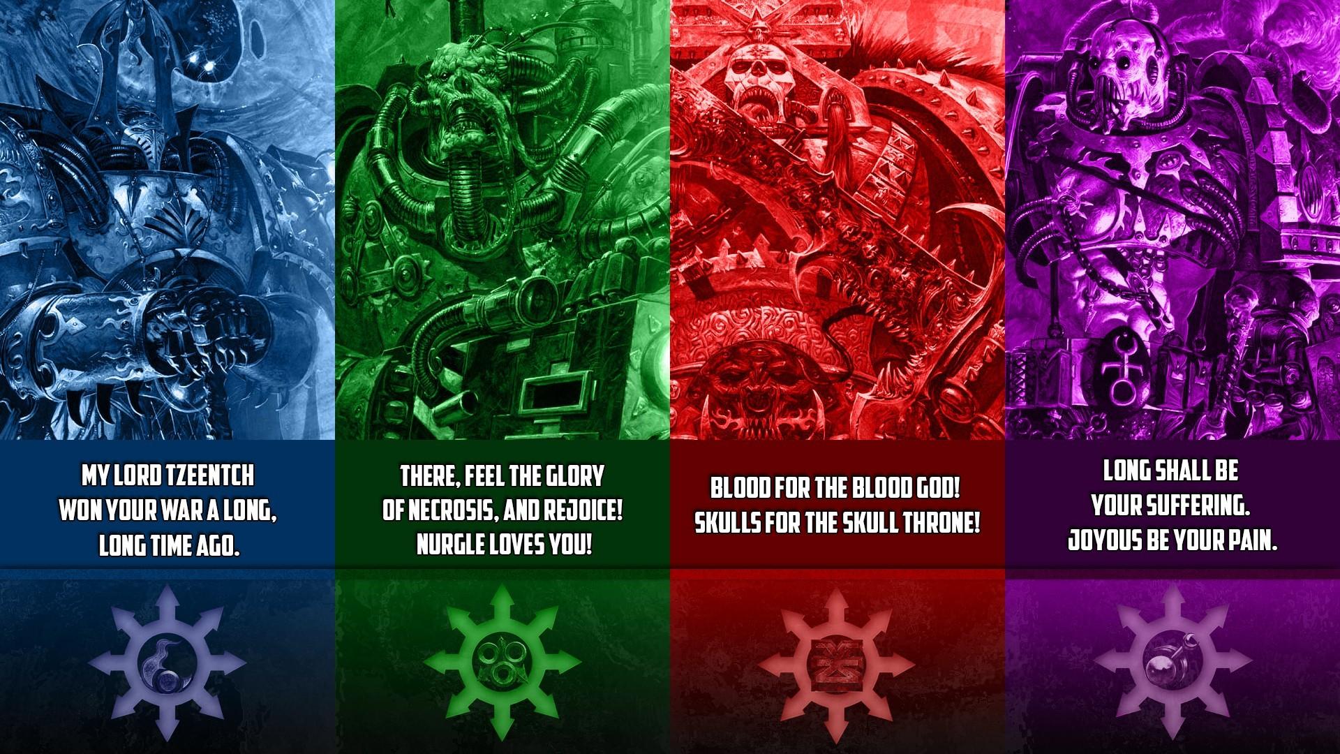 General video games warrior Warhammer 40,000 Chaos factions