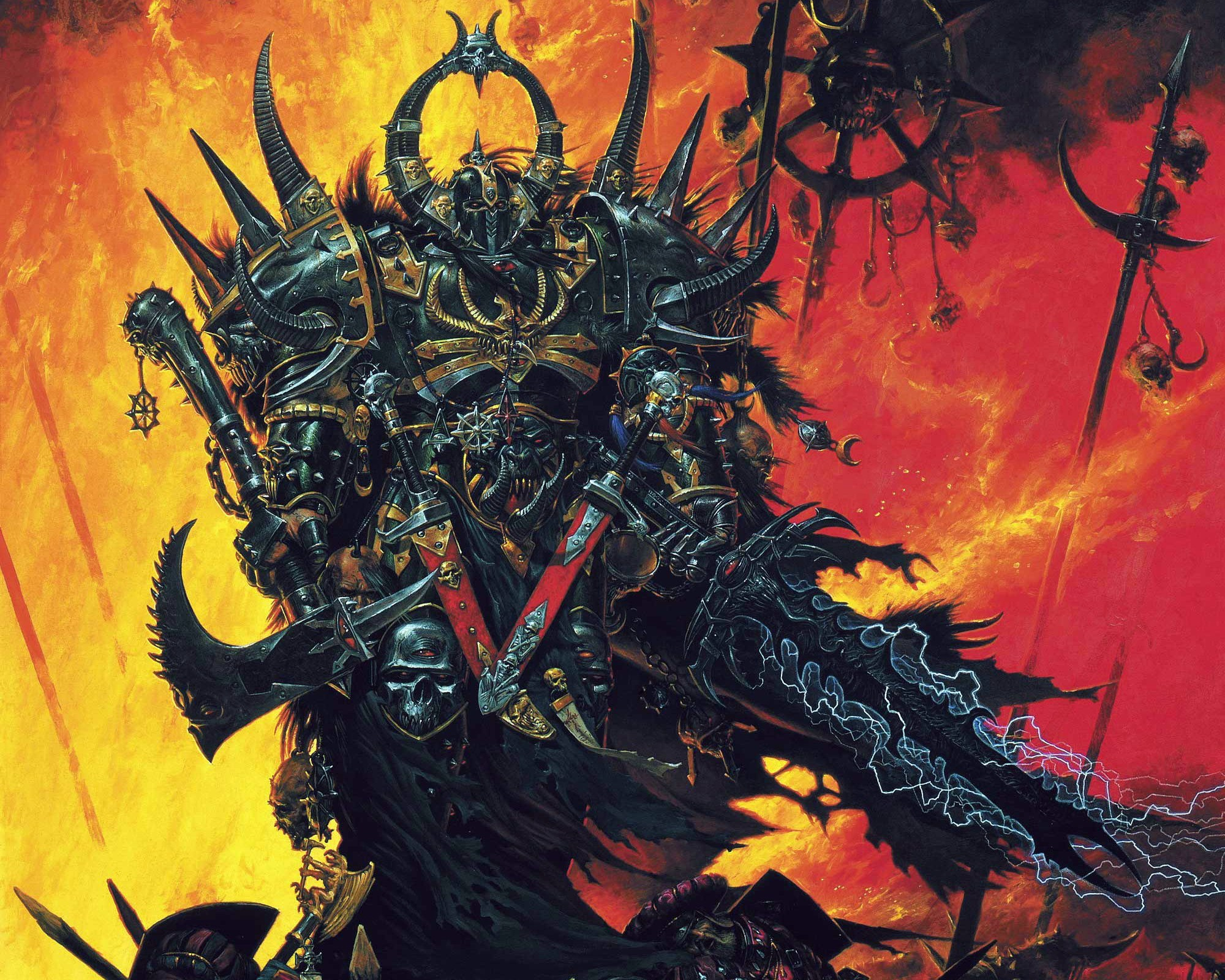 Chaos Space Marine || Tzeentch's Chosen || Amazing Illustration by Adrian  Smith http: Warhammer FantasyWarhammer 40kFantasy …