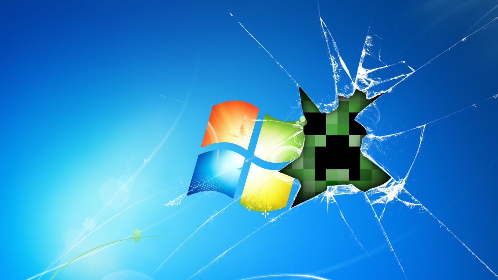Preview wallpaper windows, minecraft, game, glass, desktop 2048×1152