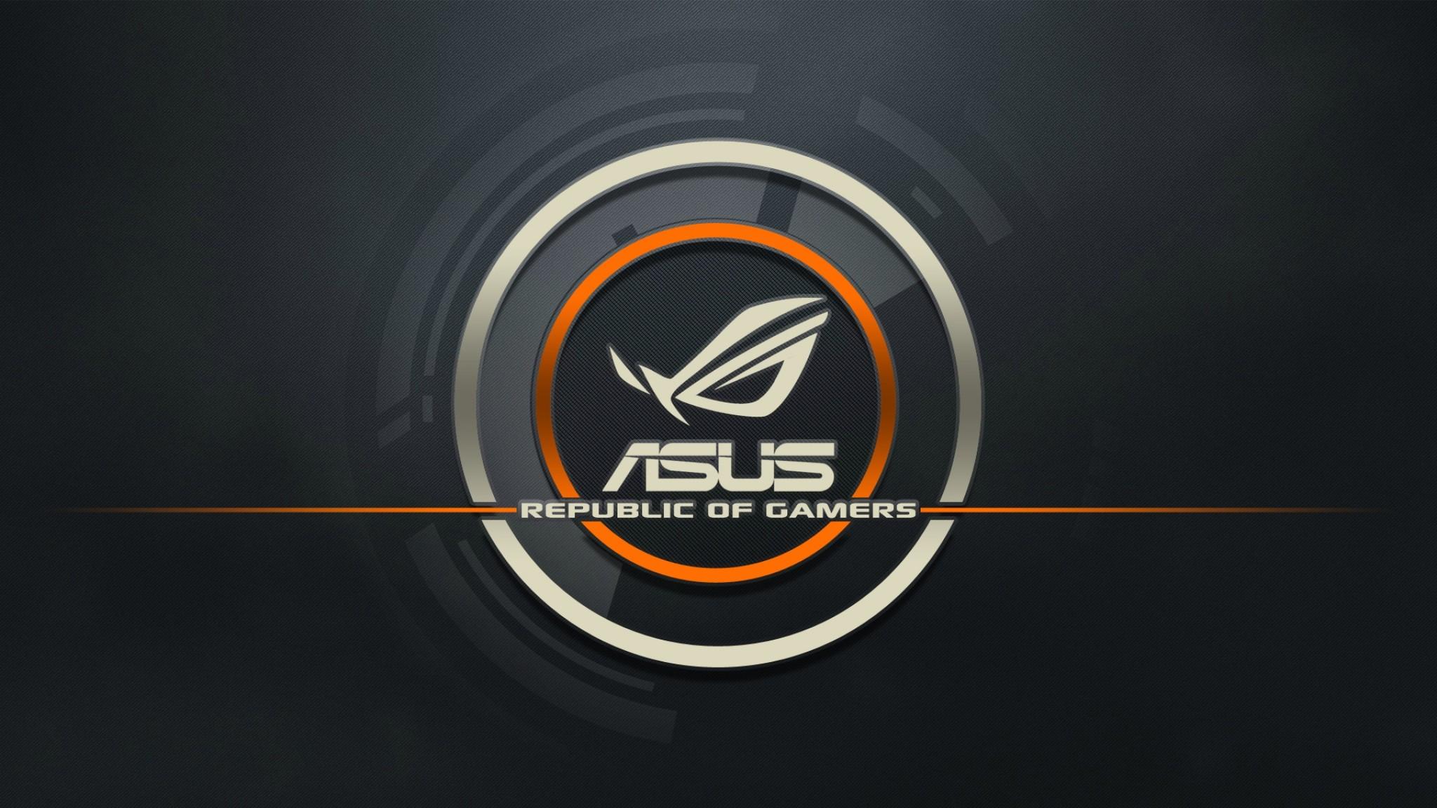 Wallpaper asus, logo, republic of gamers, computer