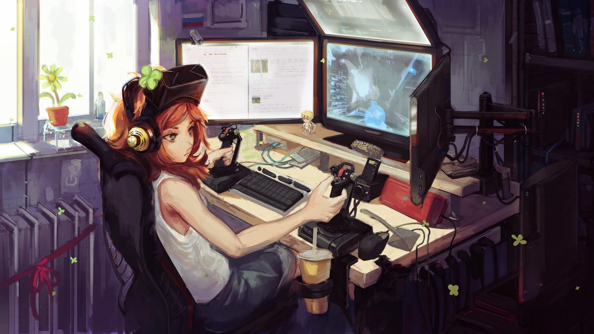 Wallpaper vivian james, computer, game, monitors, gamer