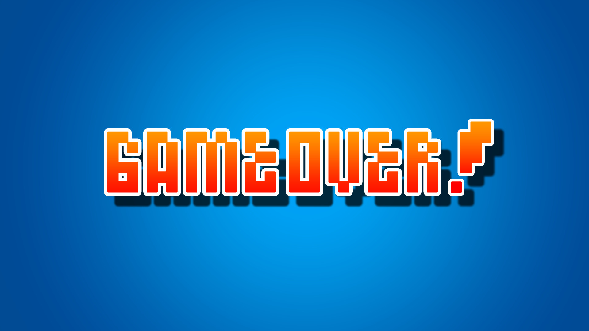Game Over 2048×1152 Resolution