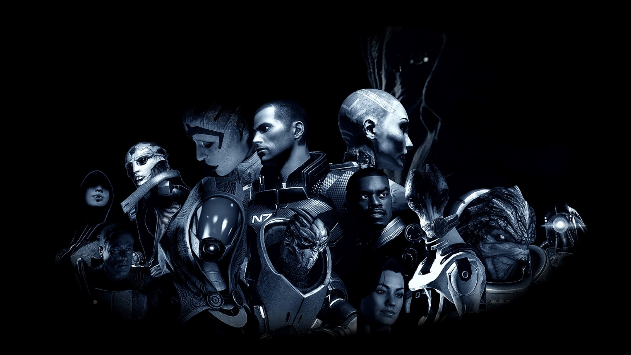 Wallpaper mass effect, characters, faces, game