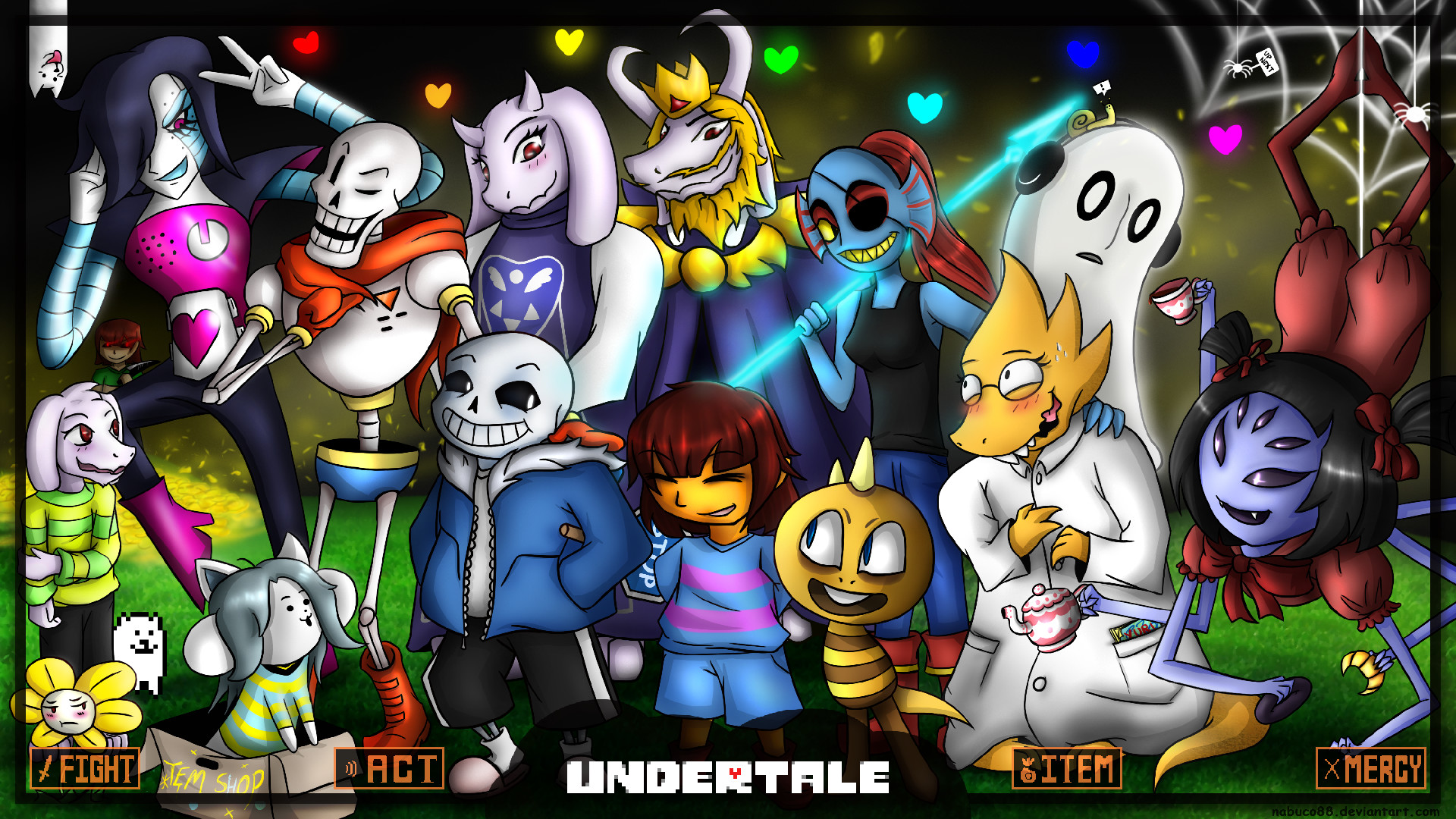 undertale_wallpaper_by_nabuco88-d9m046m.png (1920×1080) | viddio .