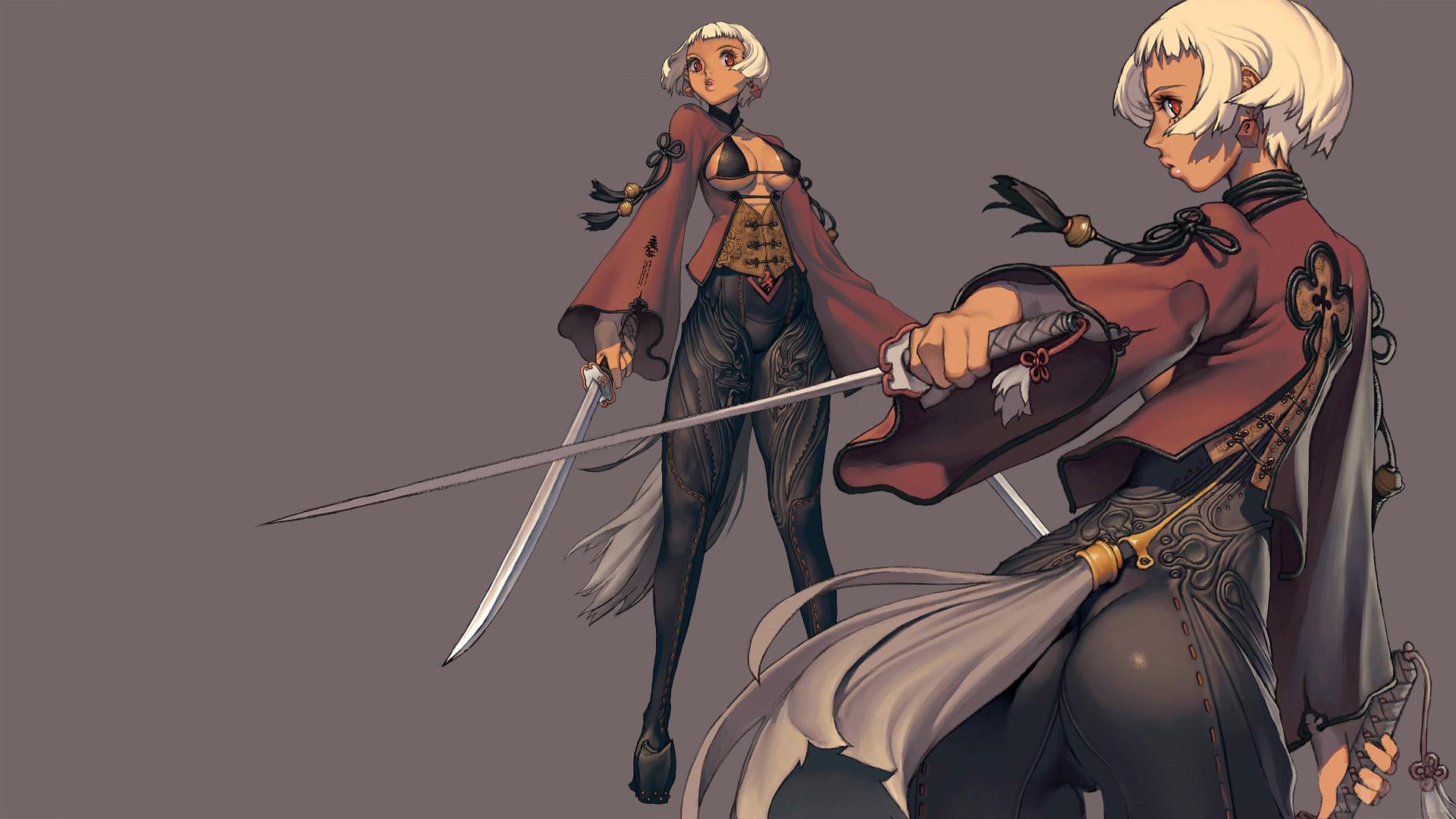 video games hyung-tae kim blade and soul simple background mmorpg game  manga art HD Wallpaper