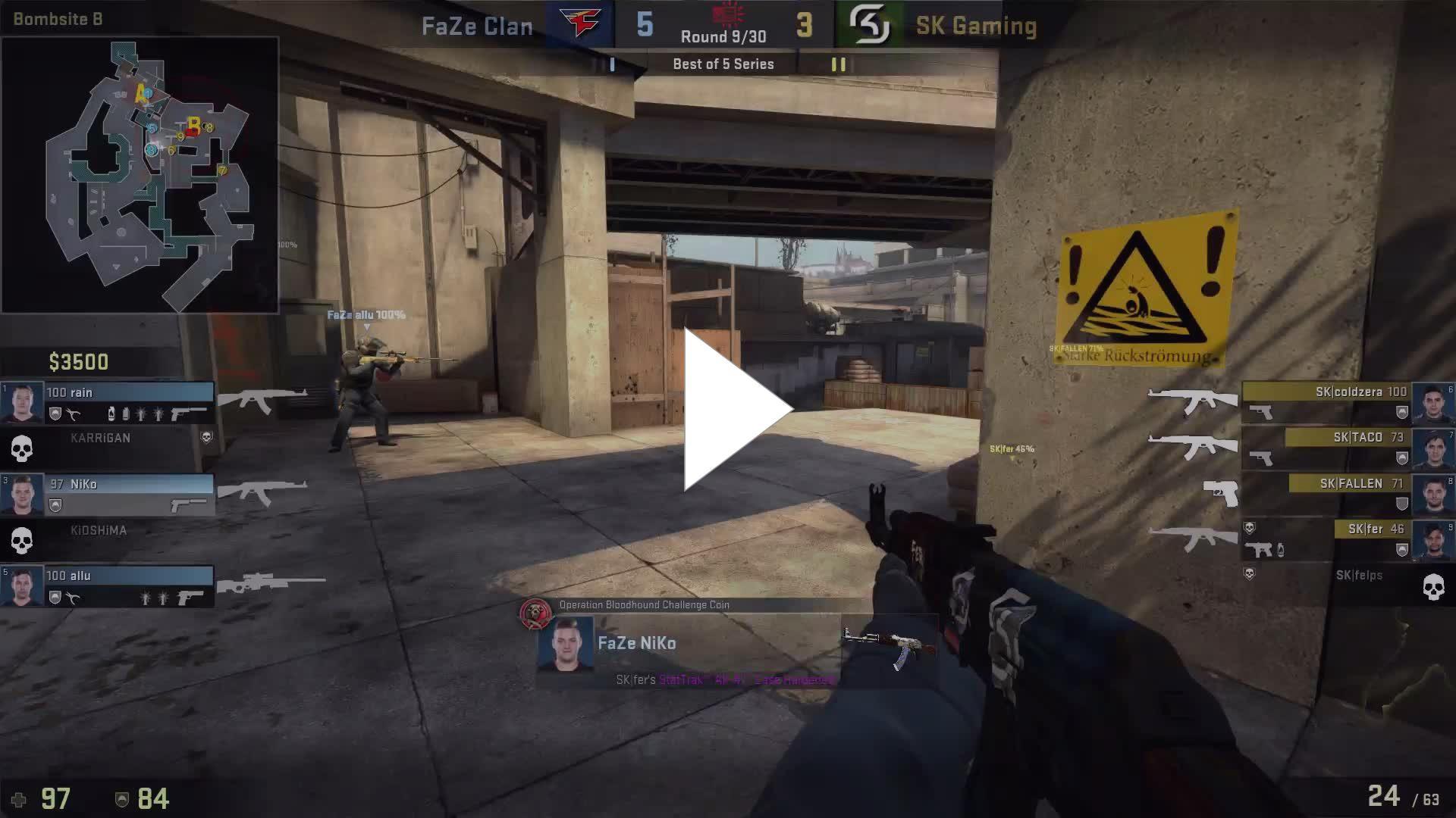 FaZe [1] vs SK-Gaming [2] @ IEM SYDNEY BO5 FINALS by ceh9  https://vk.com/ezskins322228