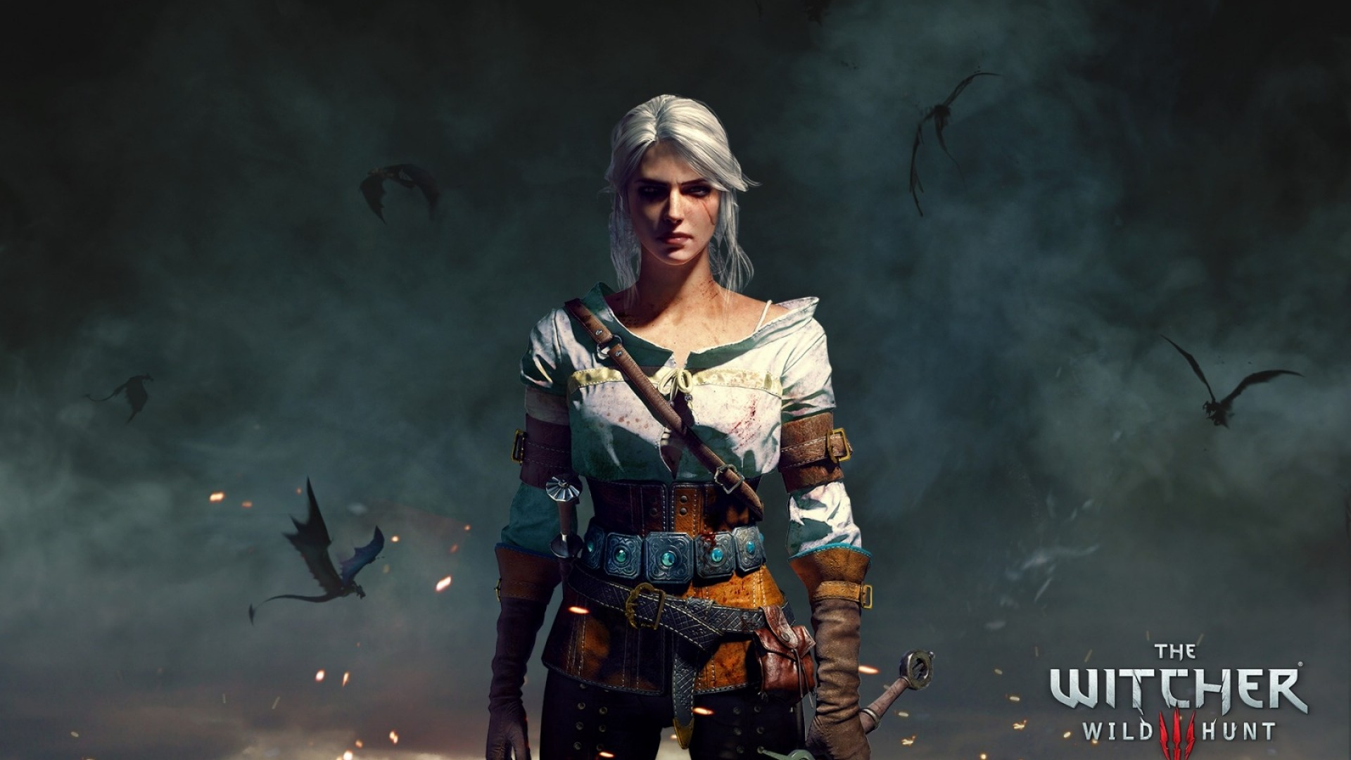 Preview wallpaper the witcher 3, wild hunt, character 1920×1080
