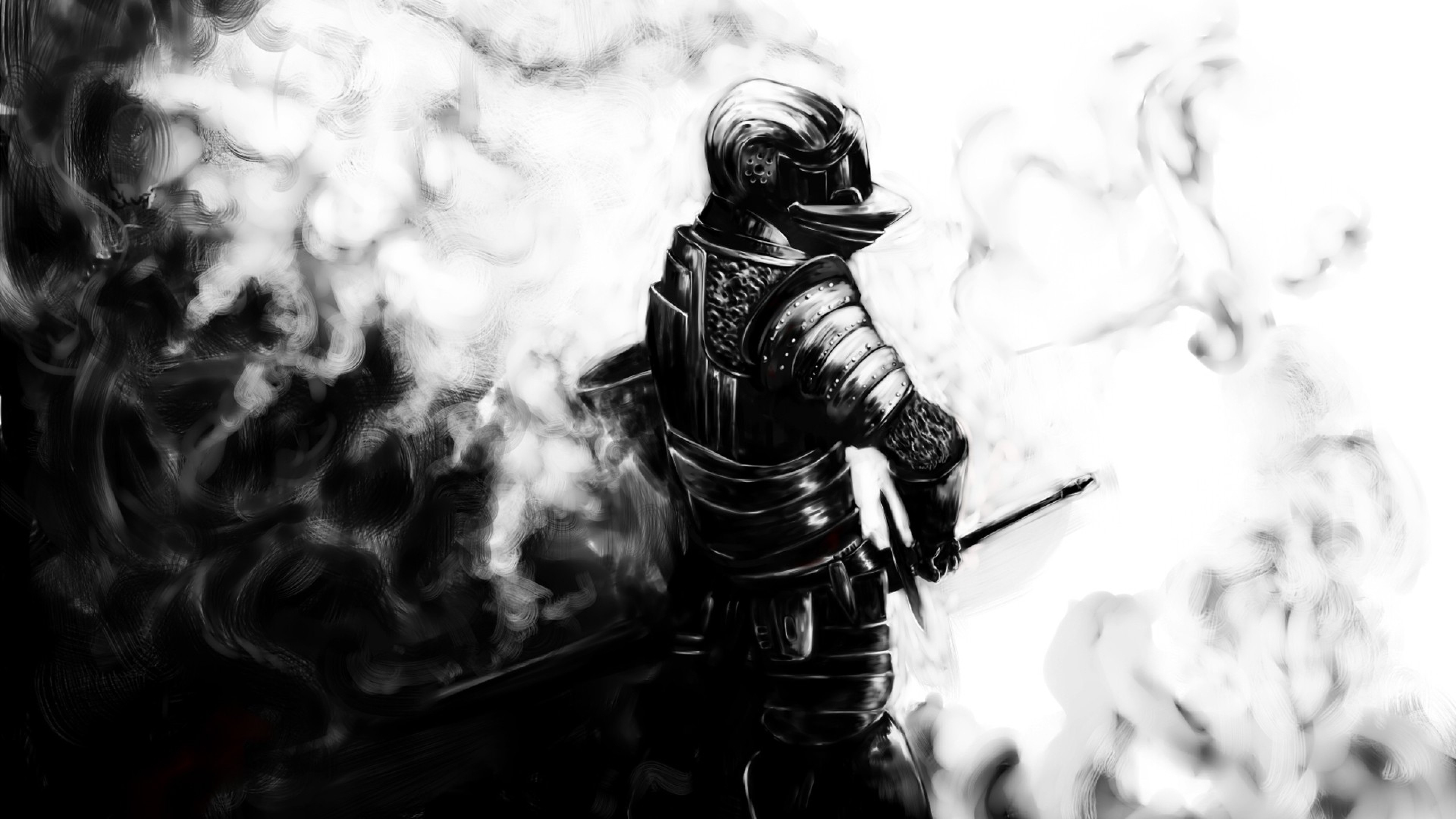 Dark souls, Knight, Sword, Armor, Helmet Wallpaper, Background .