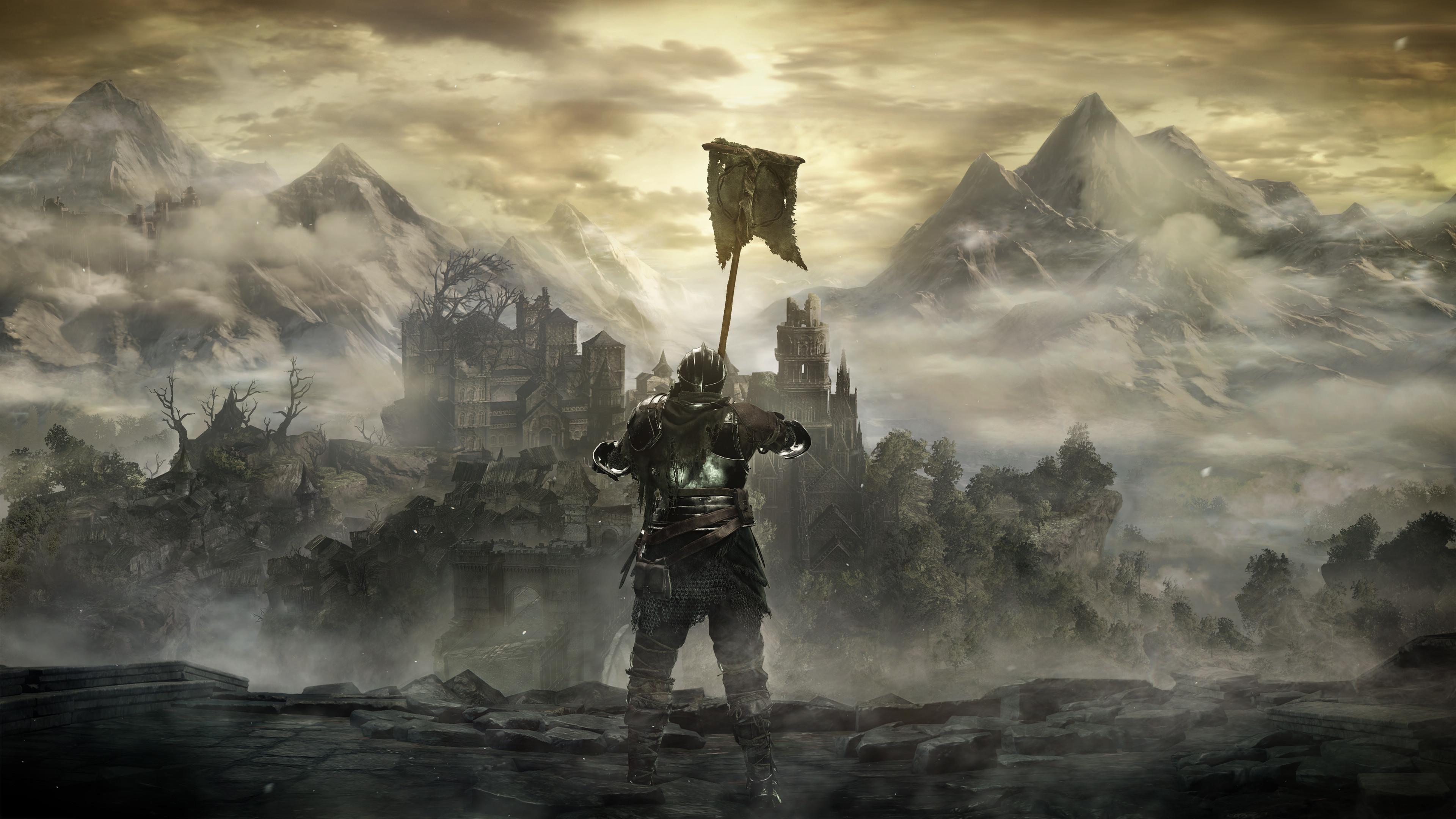 Video Game – Dark Souls III Knight Armor Mountain Castle Landscape Wallpaper