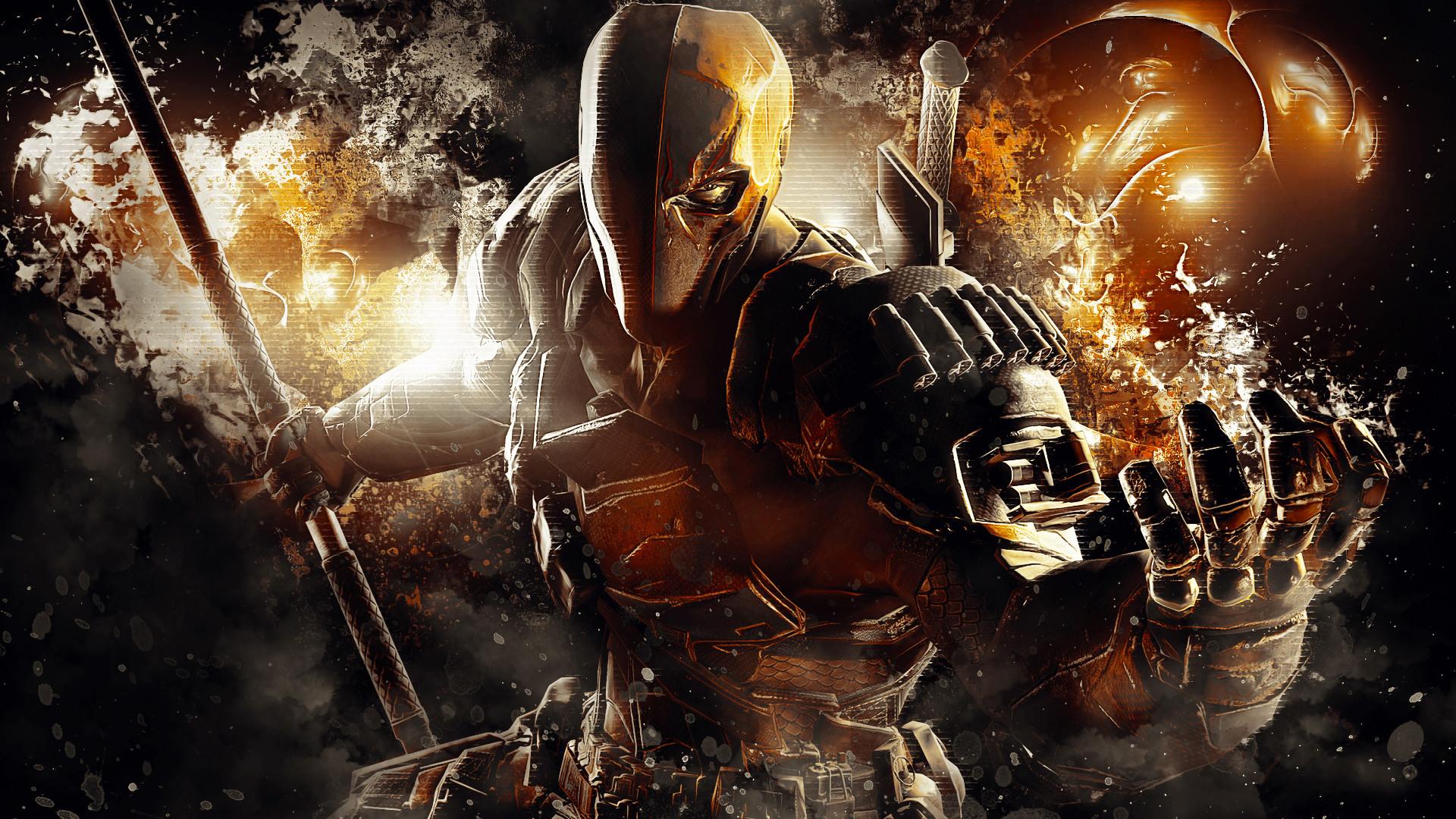 Preview wallpaper batman arkham origins, deathstroke, warner bros. games  montreal, dc comics