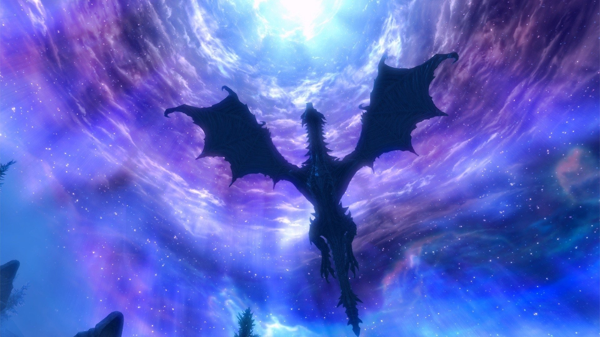 Video Game – The Elder Scrolls V: Skyrim Dragon Sky Fantasy Wallpaper