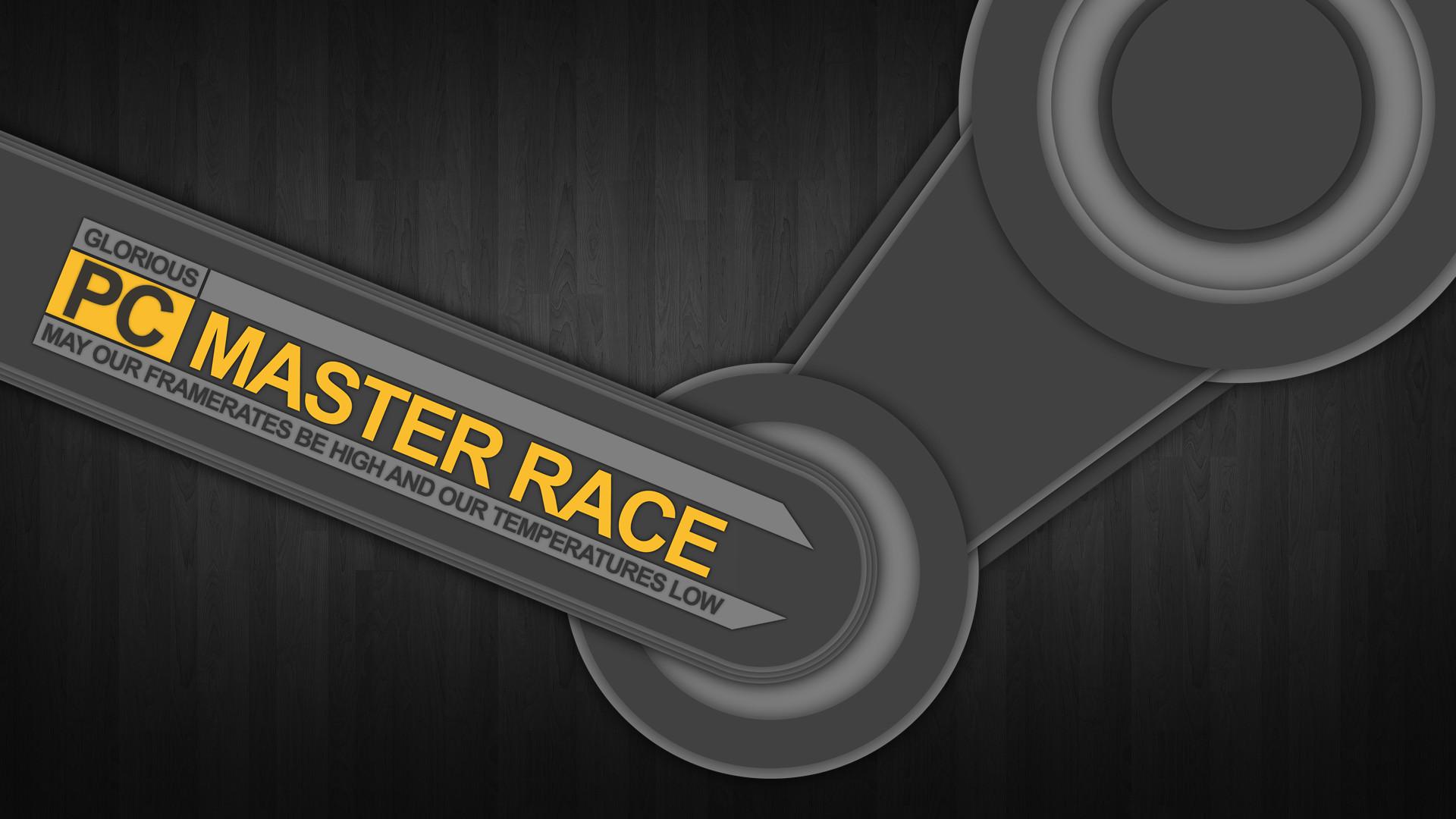 [OC] Steam Logo + PCMR Logo + Google's Material Design = Glorious New  Wallpaper [8000×4500] : pcmasterrace