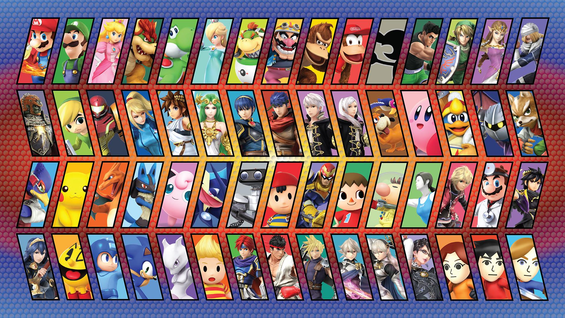 SSB4 Character Background 1 by Brickhead427 SSB4 Character Background 1 by  Brickhead427