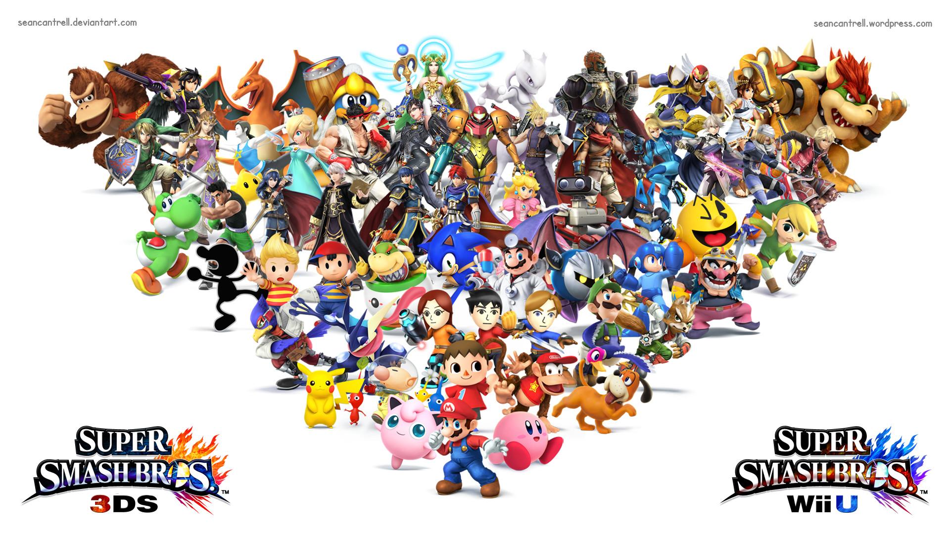 … Super Smash Bros Wii U / 3DS Wallpaper by seancantrell