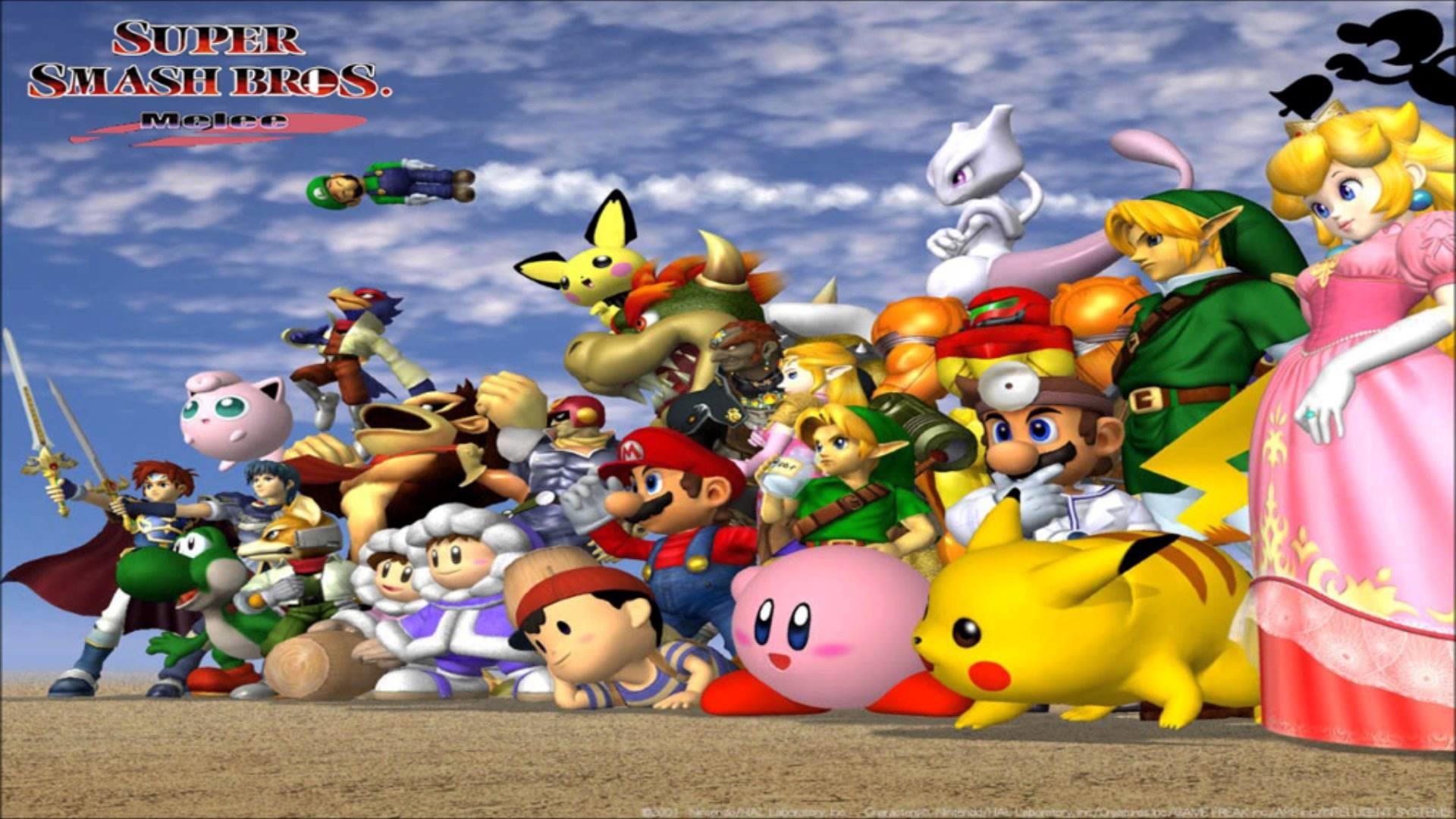 Images For > Super Smash Bros Melee Logo Wallpaper