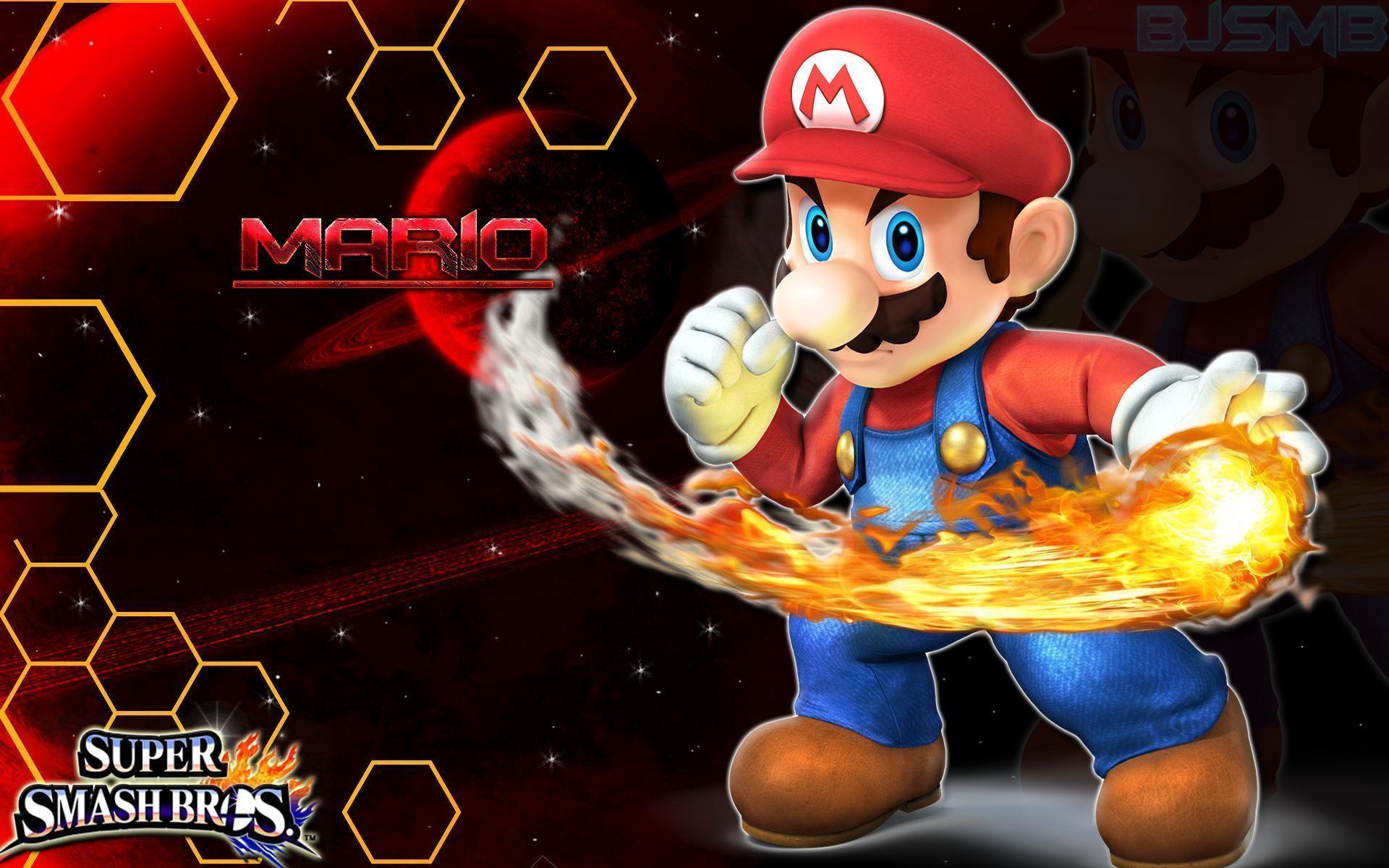 Mario – Super Smash Bros. 4 Wallpaper/Background by BowserJrSMB on .