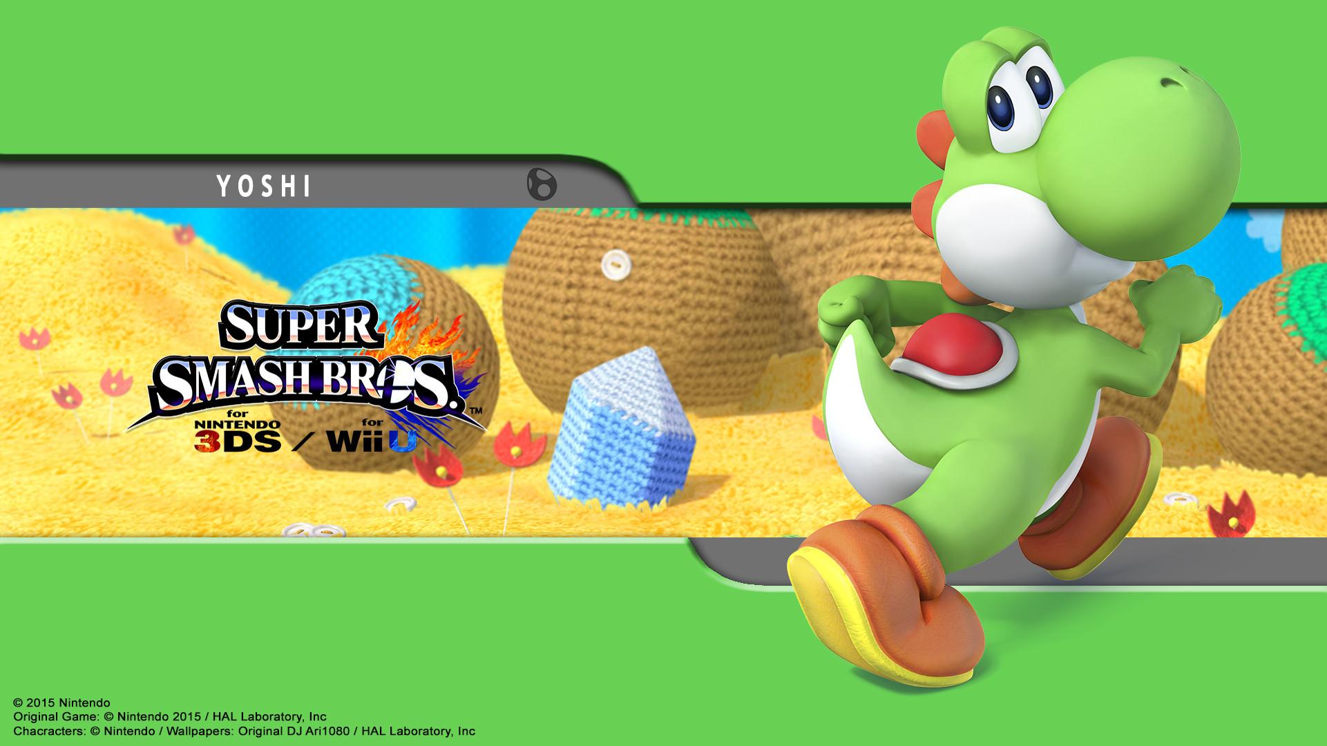 … Yoshi Wallpaper – SSB for 3Ds / Wii U by DJAri1080
