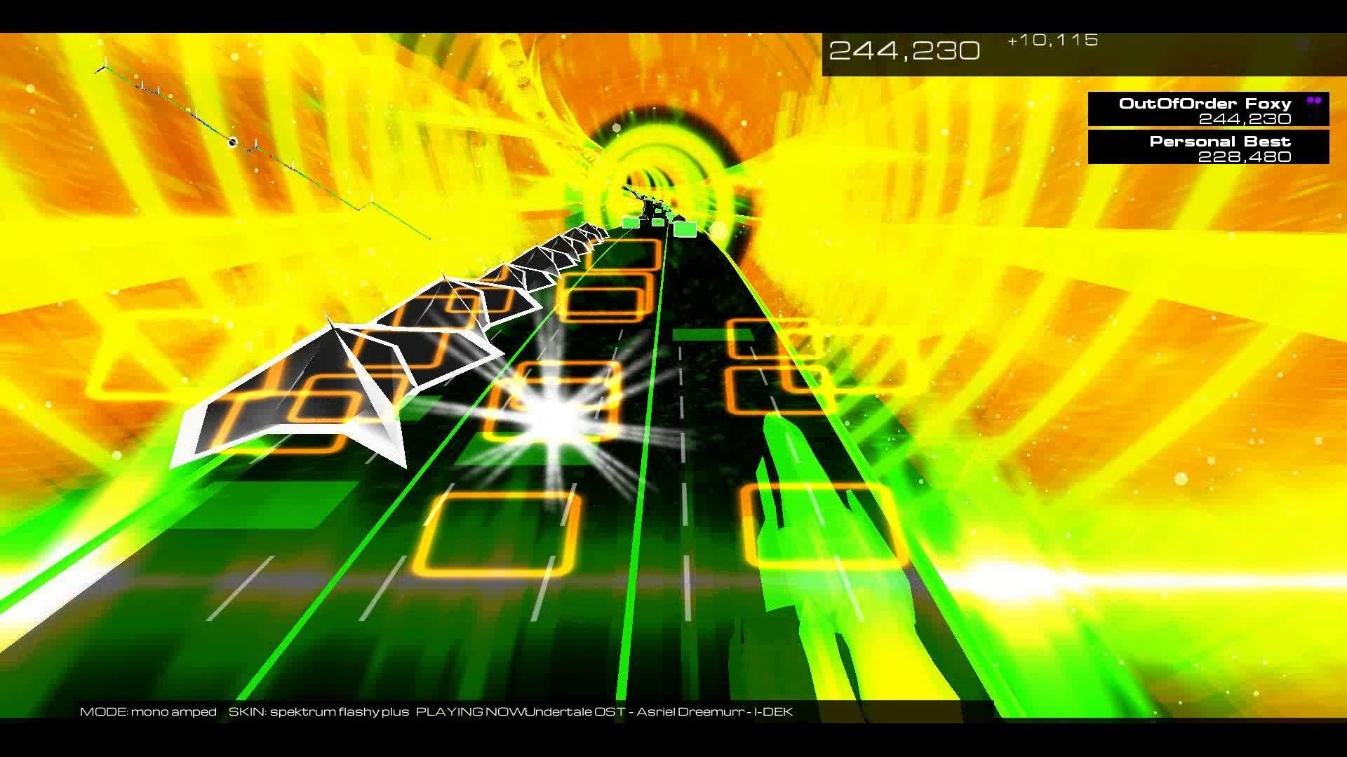 Audiosurf 2: Undertale – Hopes and Dreams/Save The World (Asriel Dreemurr)  – YouTube