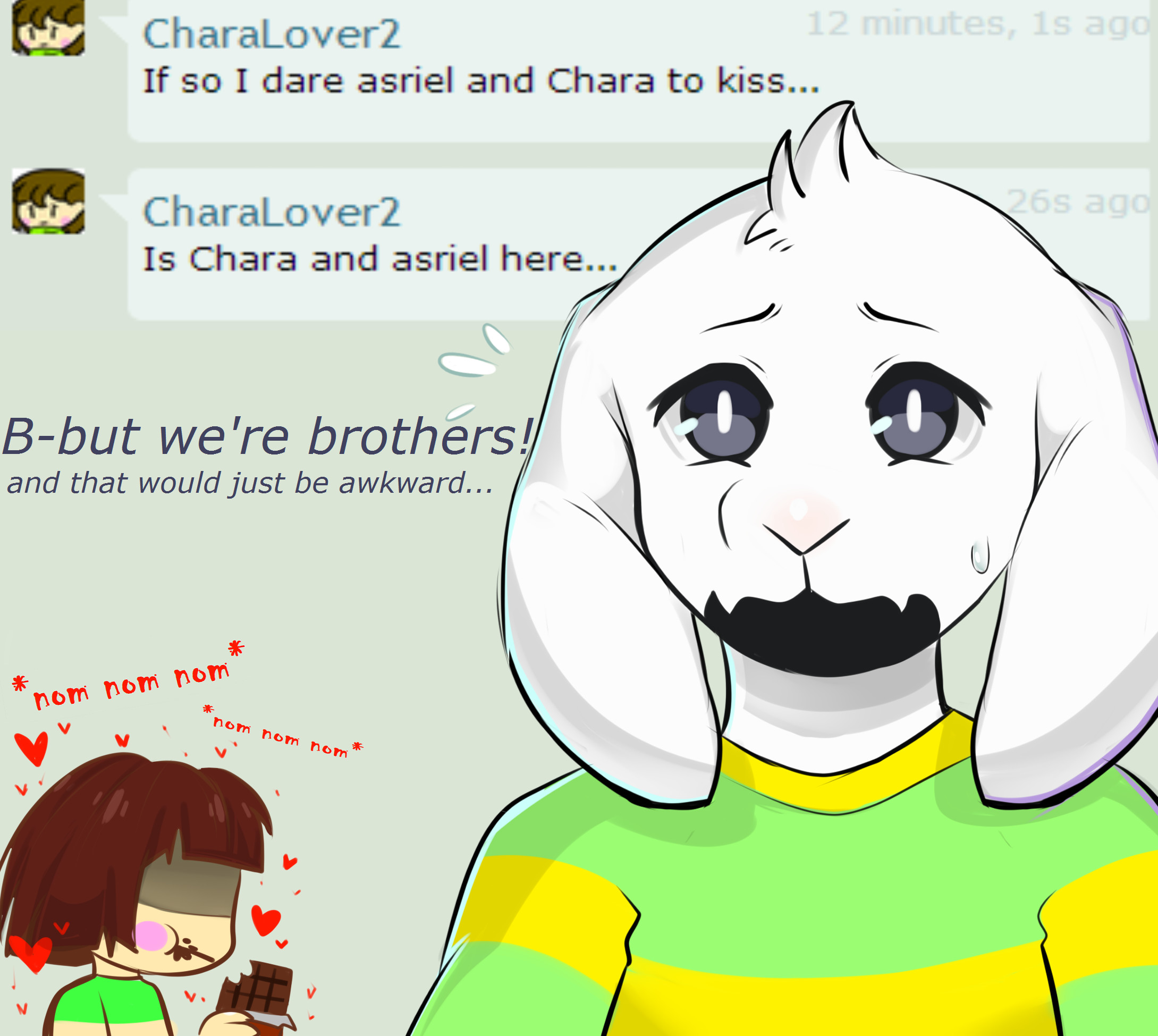 … Undertale Ask: Asriel and Chara question #10 by The-Star-Hunter