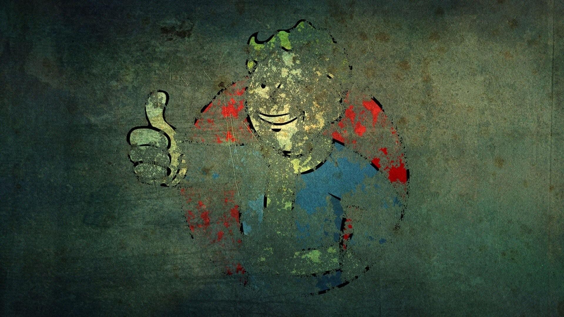 Video games Fallout grunge Vault Boy wallpaper     341067 .